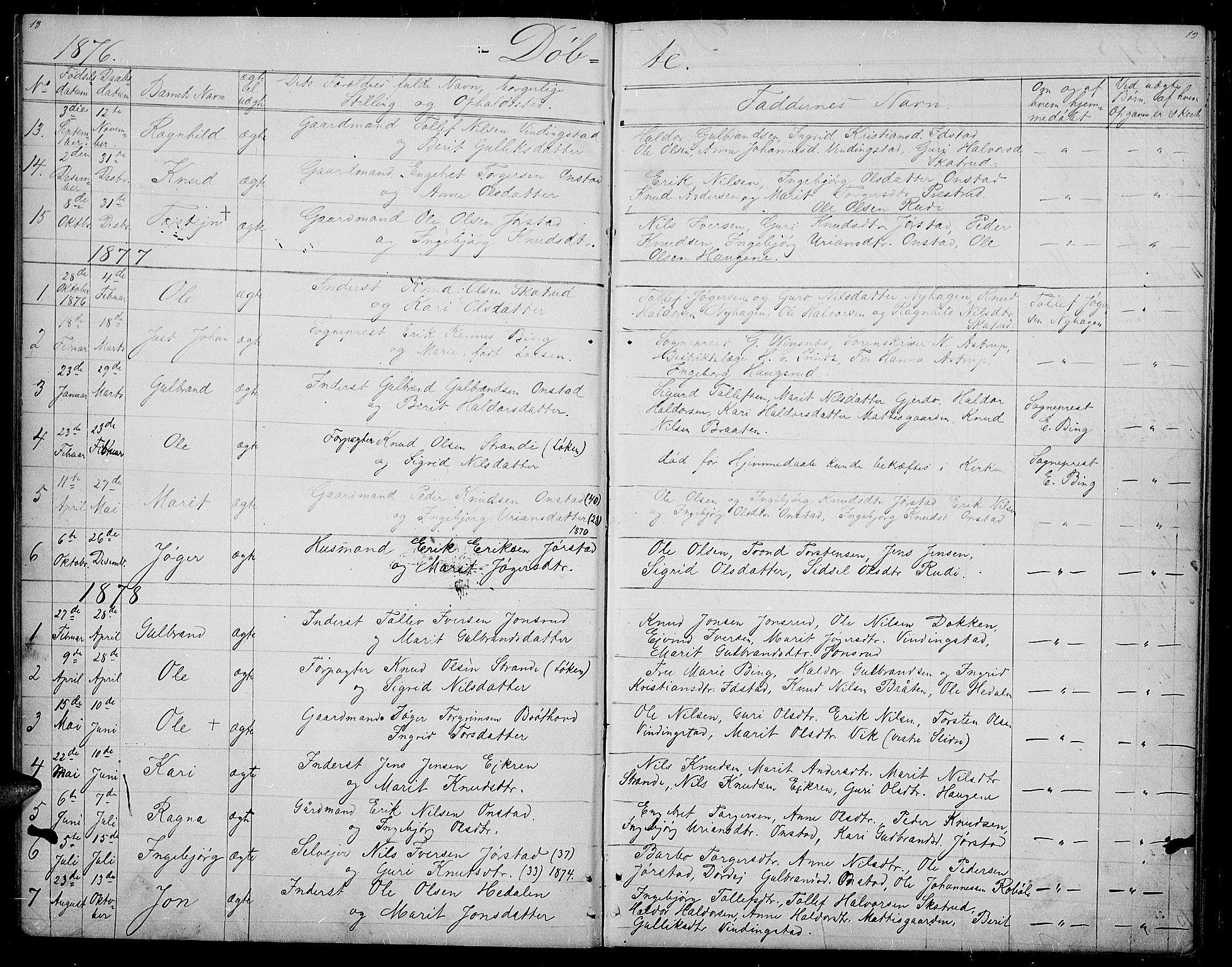 SAH, Øystre Slidre prestekontor, Klokkerbok nr. 2, 1866-1886, s. 18-19