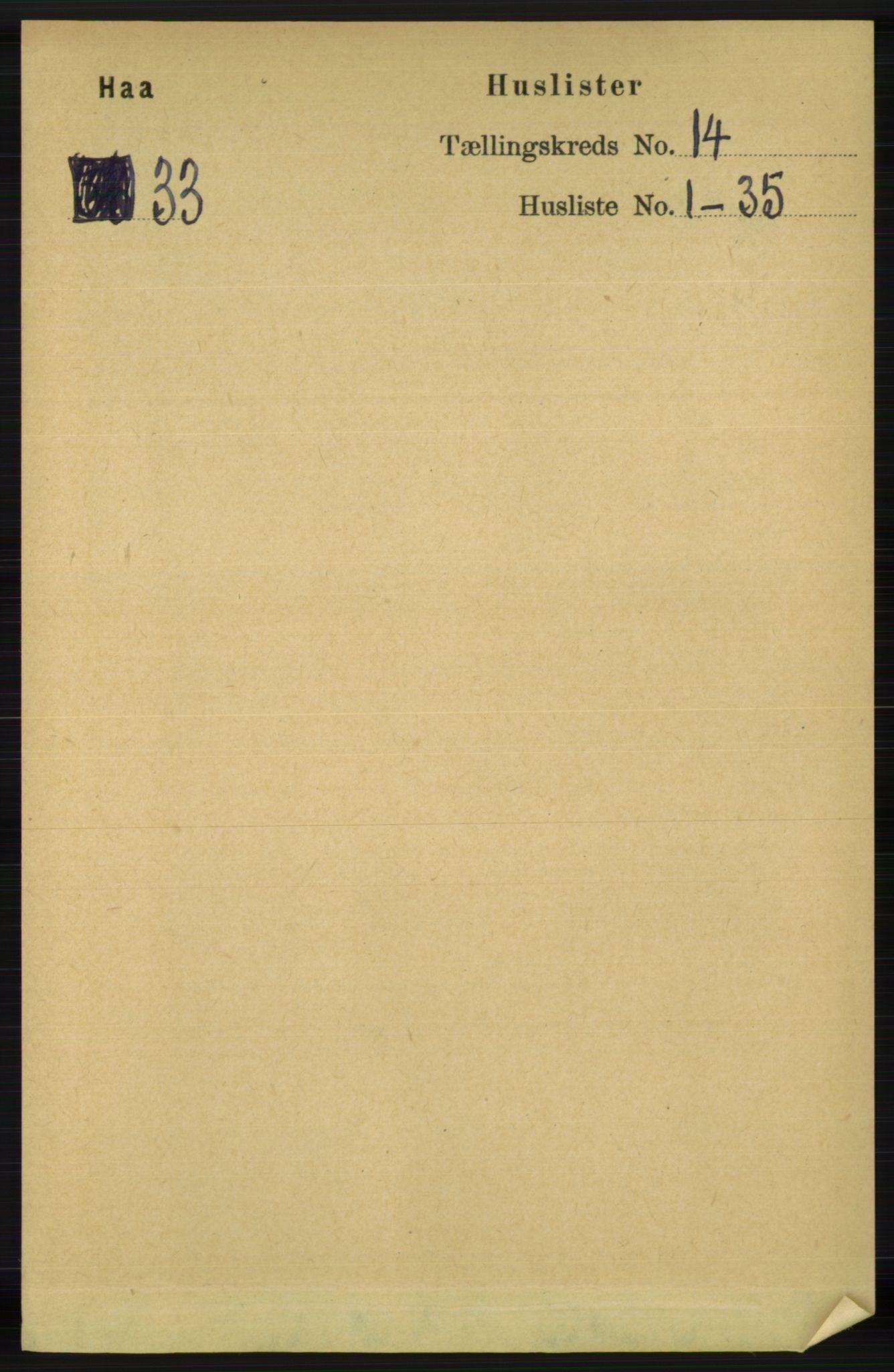 RA, Folketelling 1891 for 1119 Hå herred, 1891, s. 3320