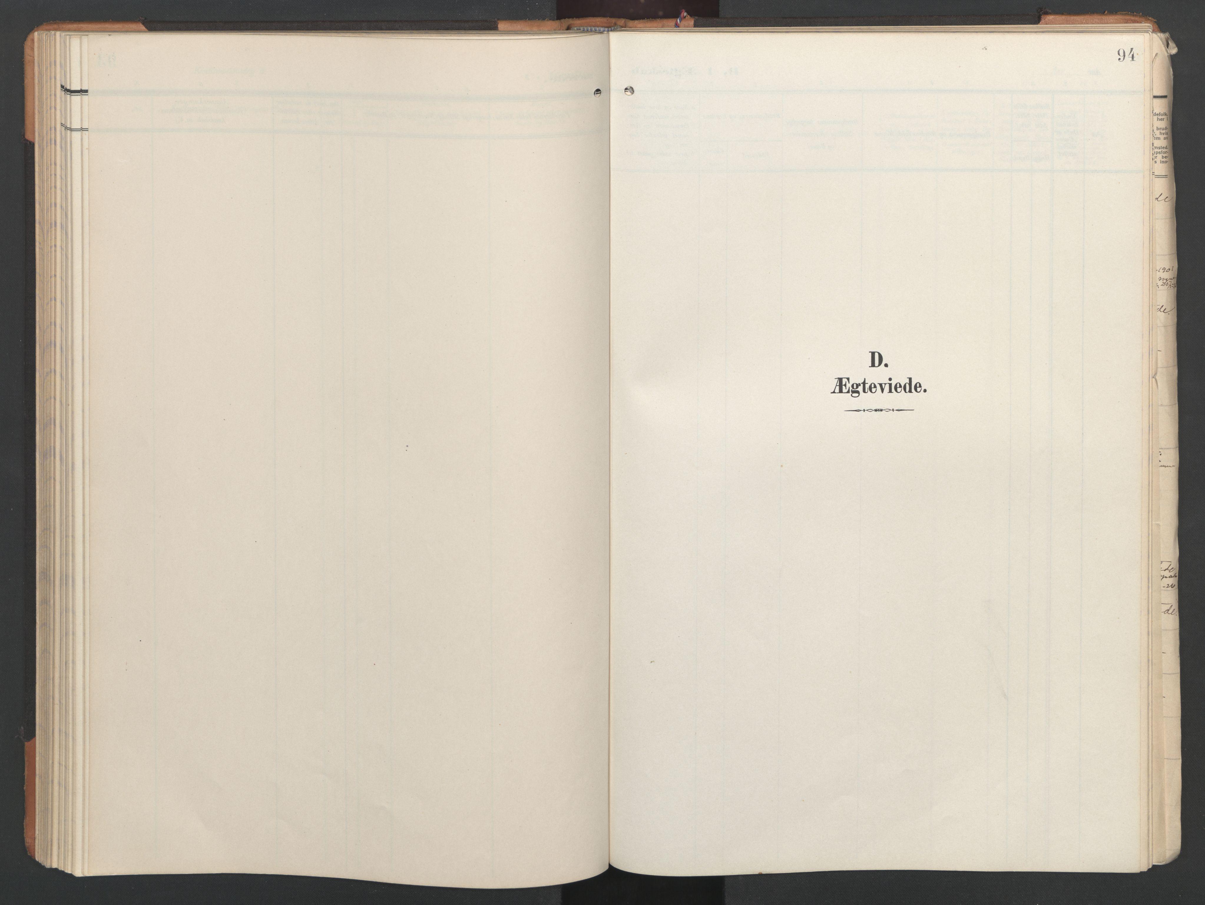 SAT, Ministerialprotokoller, klokkerbøker og fødselsregistre - Nord-Trøndelag, 746/L0455: Klokkerbok nr. 746C01, 1908-1933, s. 94