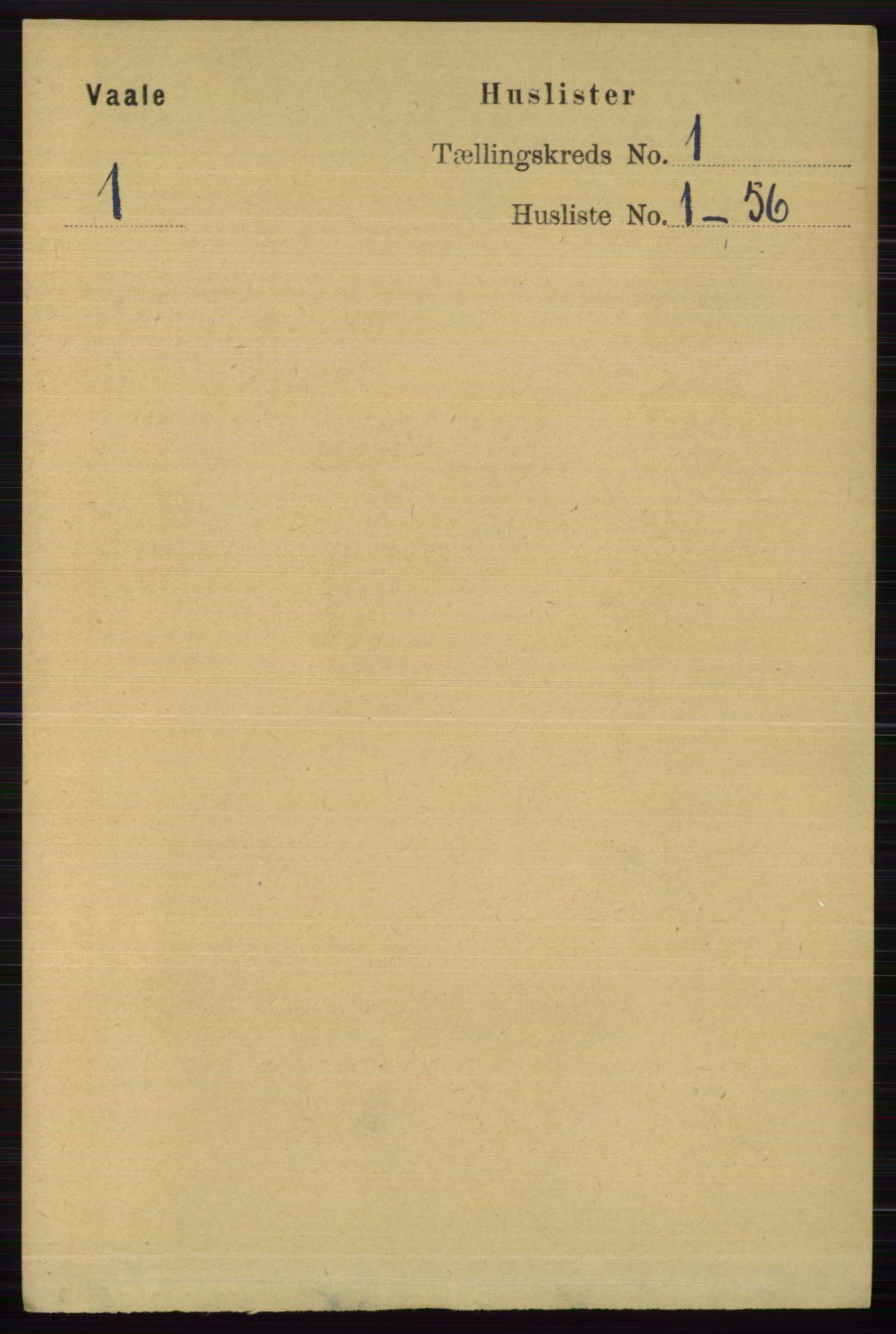 RA, Folketelling 1891 for 0716 Våle herred, 1891, s. 23