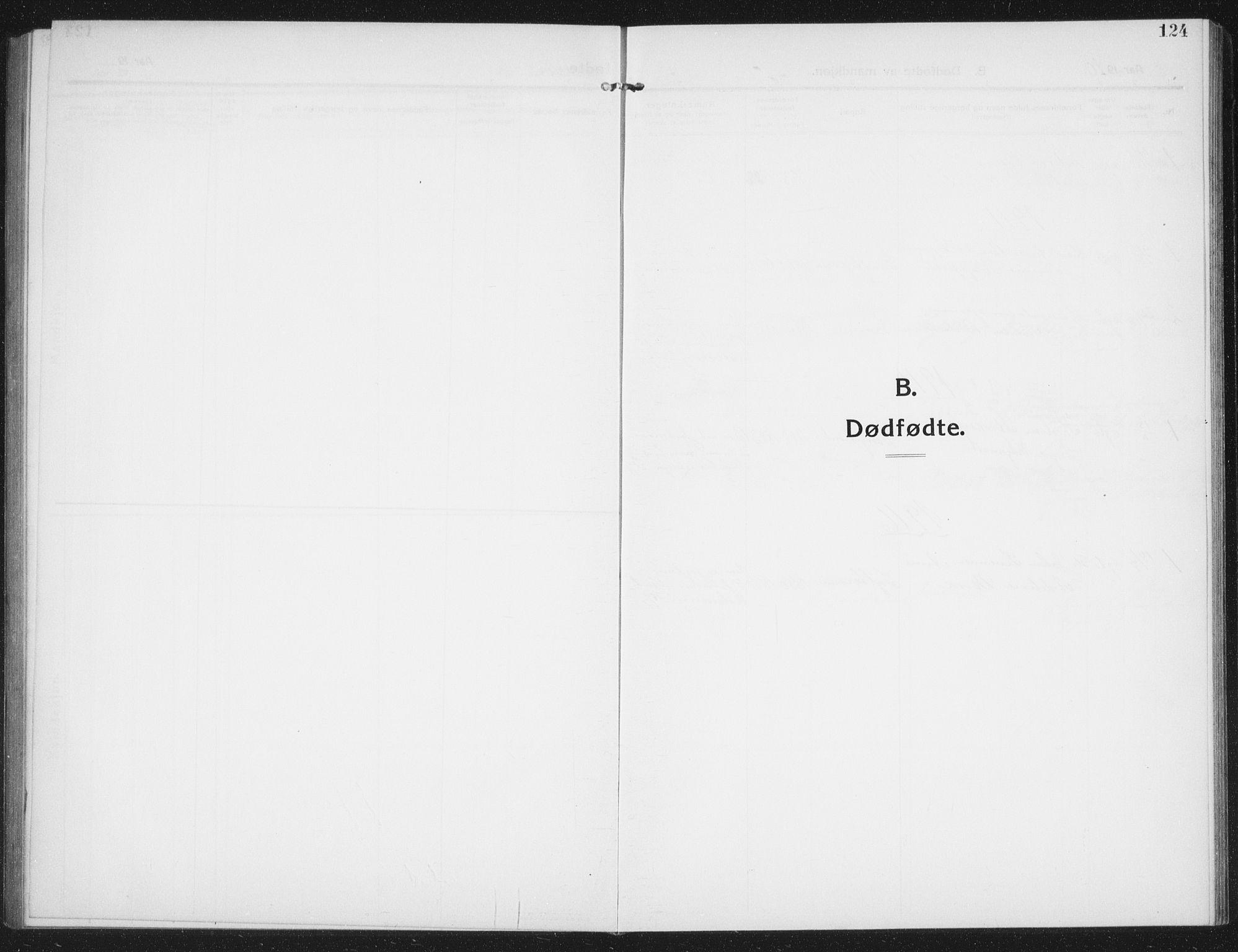 SAT, Ministerialprotokoller, klokkerbøker og fødselsregistre - Nord-Trøndelag, 774/L0630: Klokkerbok nr. 774C01, 1910-1934, s. 124