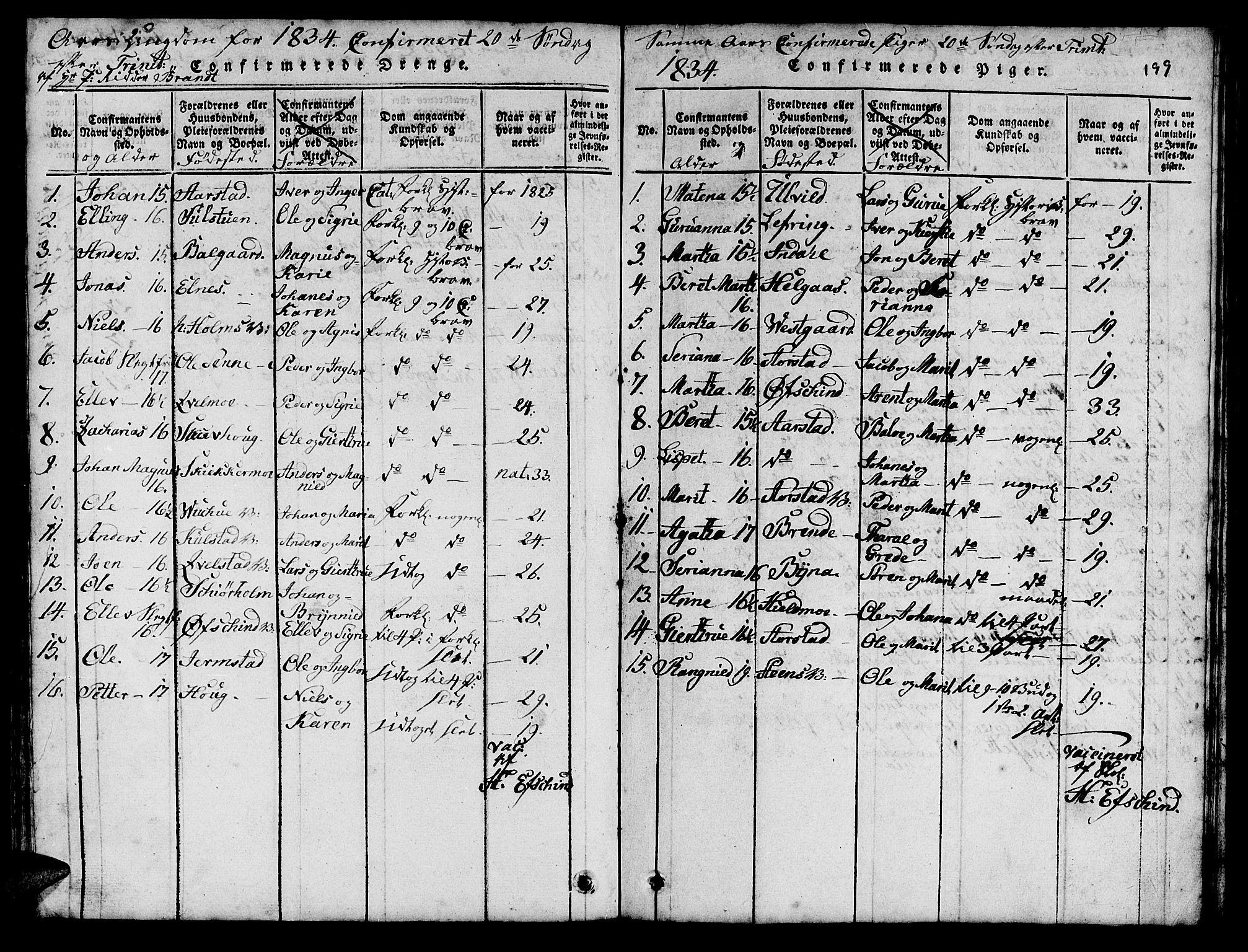 SAT, Ministerialprotokoller, klokkerbøker og fødselsregistre - Nord-Trøndelag, 724/L0265: Klokkerbok nr. 724C01, 1816-1845, s. 199