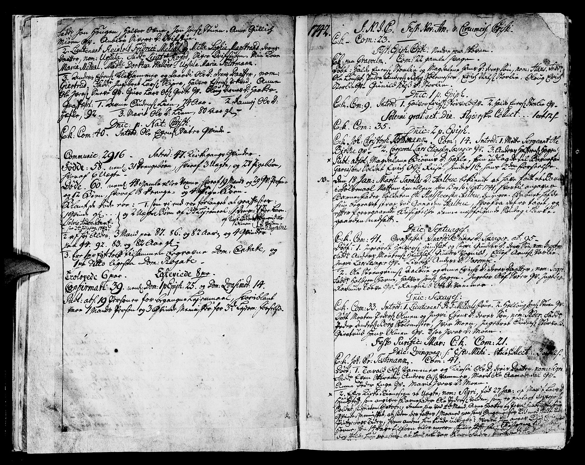 SAT, Ministerialprotokoller, klokkerbøker og fødselsregistre - Sør-Trøndelag, 678/L0891: Ministerialbok nr. 678A01, 1739-1780, s. 14