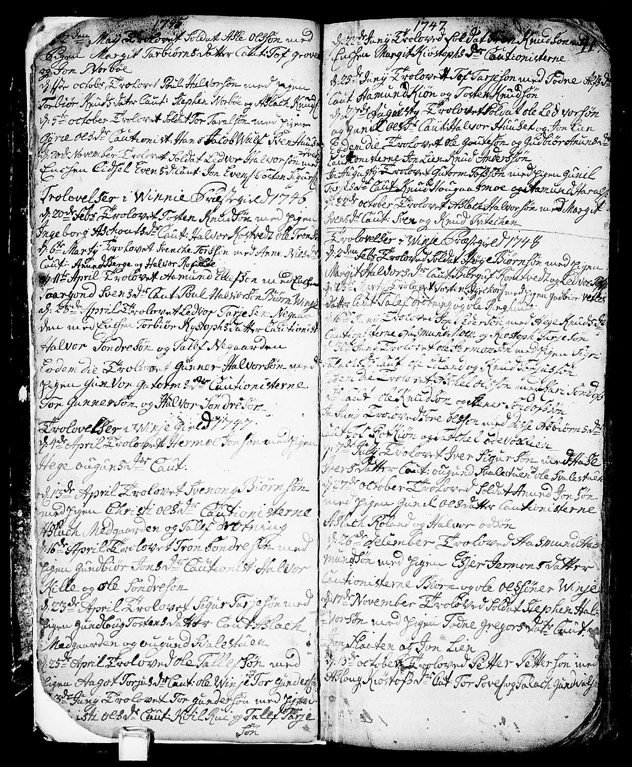 SAKO, Vinje kirkebøker, F/Fa/L0001: Ministerialbok nr. I 1, 1717-1766, s. 10