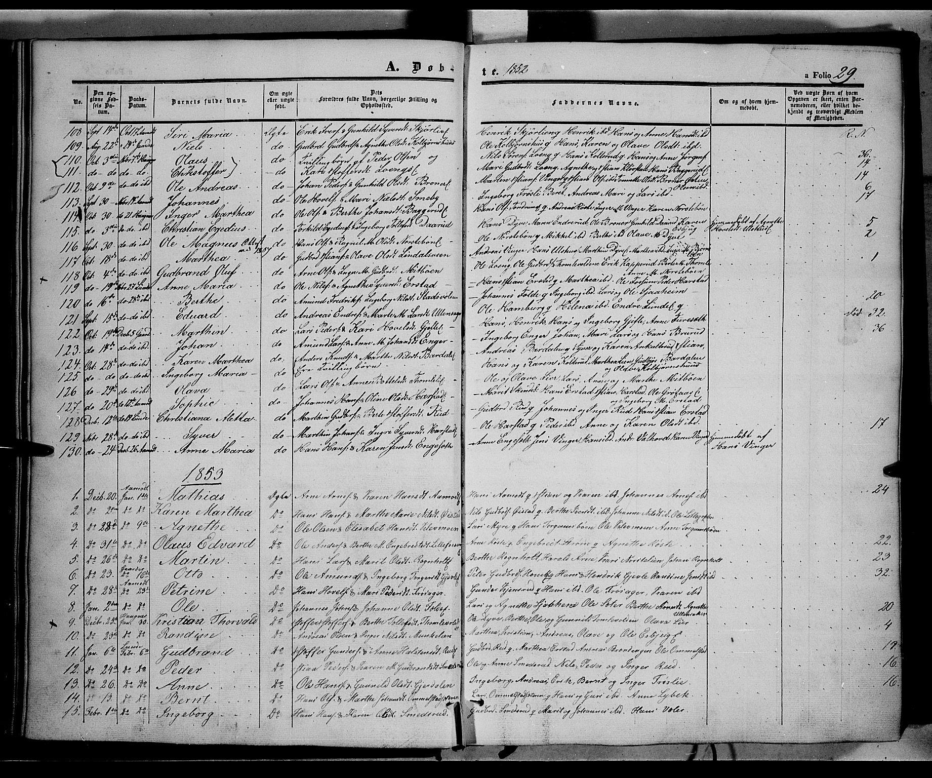 SAH, Land prestekontor, Ministerialbok nr. 10, 1847-1859, s. 29