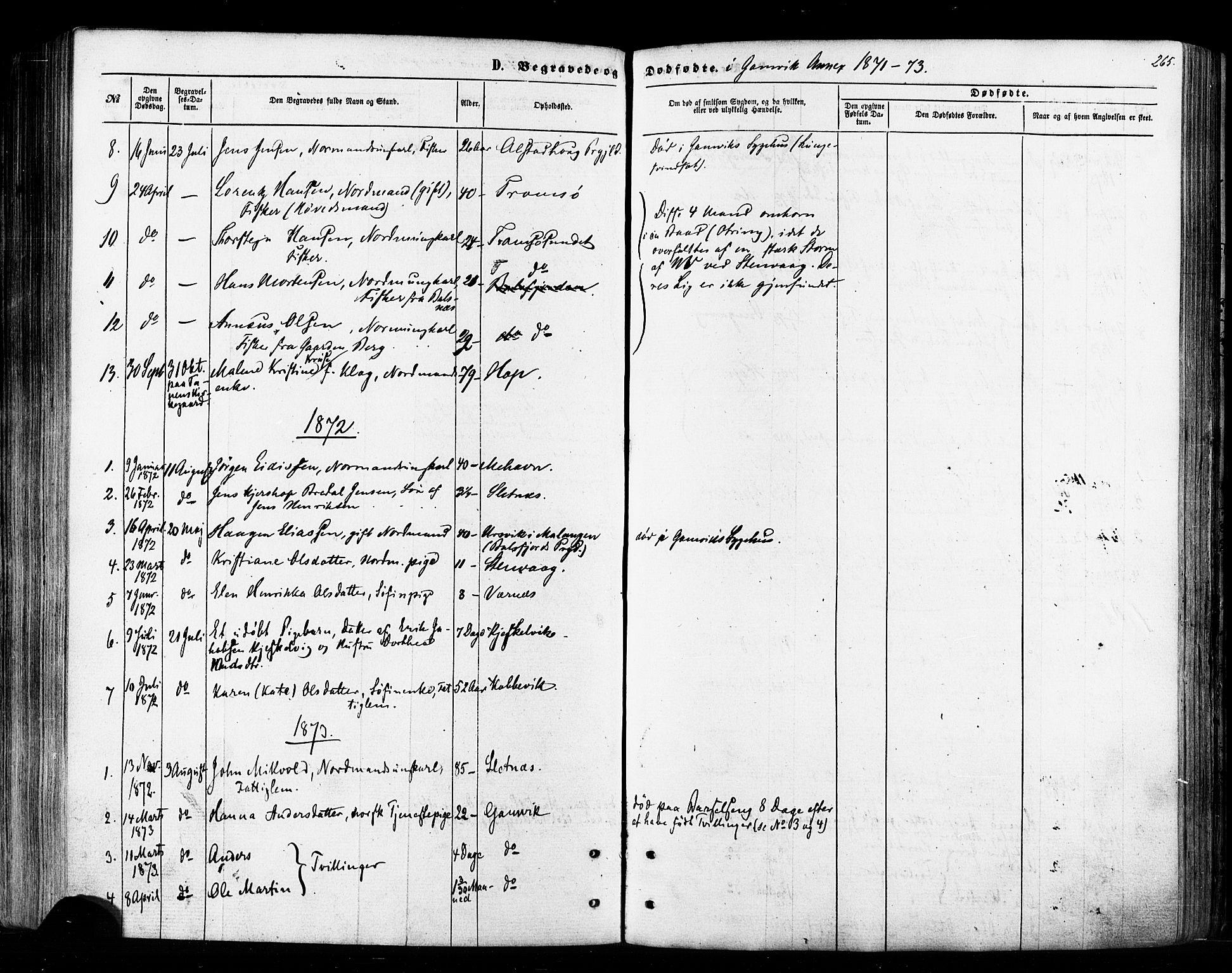 SATØ, Tana sokneprestkontor, H/Ha/L0002kirke: Ministerialbok nr. 2 /2, 1862-1877, s. 265