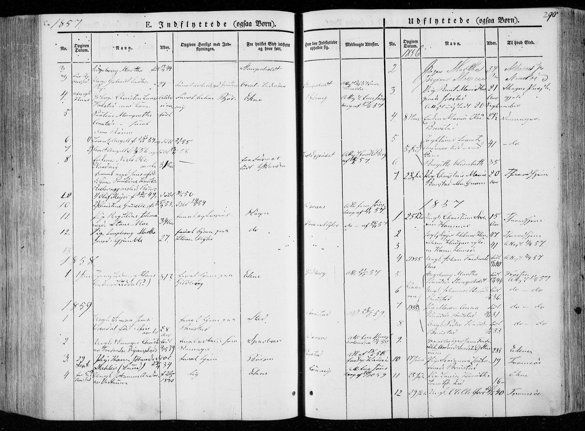 SAT, Ministerialprotokoller, klokkerbøker og fødselsregistre - Nord-Trøndelag, 722/L0218: Ministerialbok nr. 722A05, 1843-1868, s. 290