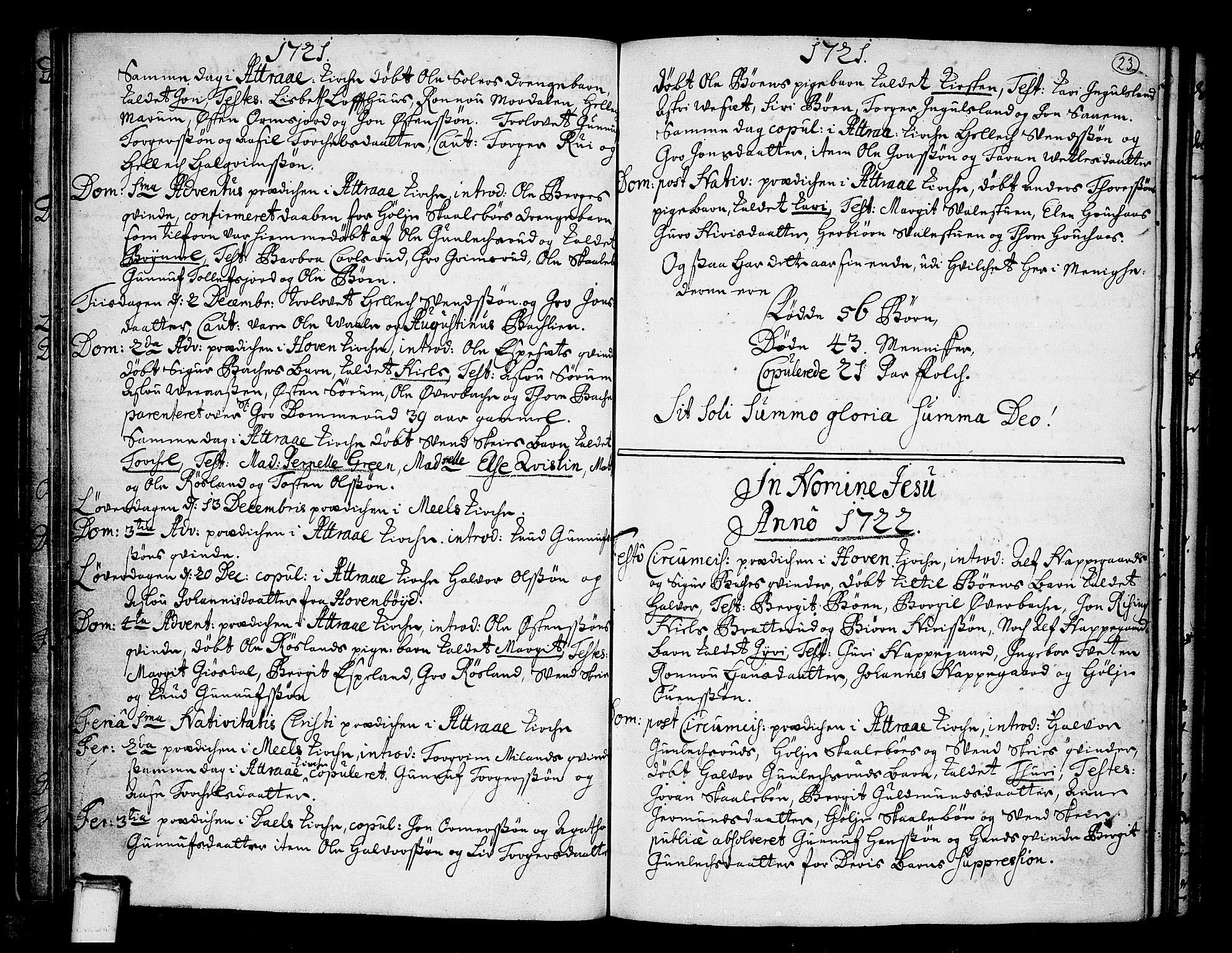 SAKO, Tinn kirkebøker, F/Fa/L0001: Ministerialbok nr. I 1, 1717-1734, s. 23