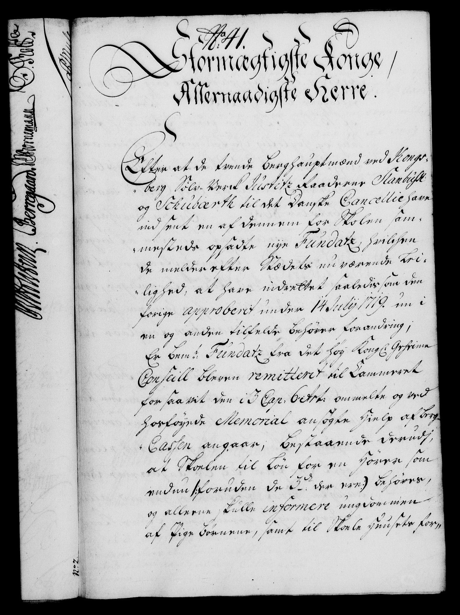 RA, Rentekammeret, Kammerkanselliet, G/Gf/Gfa/L0017: Norsk relasjons- og resolusjonsprotokoll (merket RK 52.17), 1734, s. 219