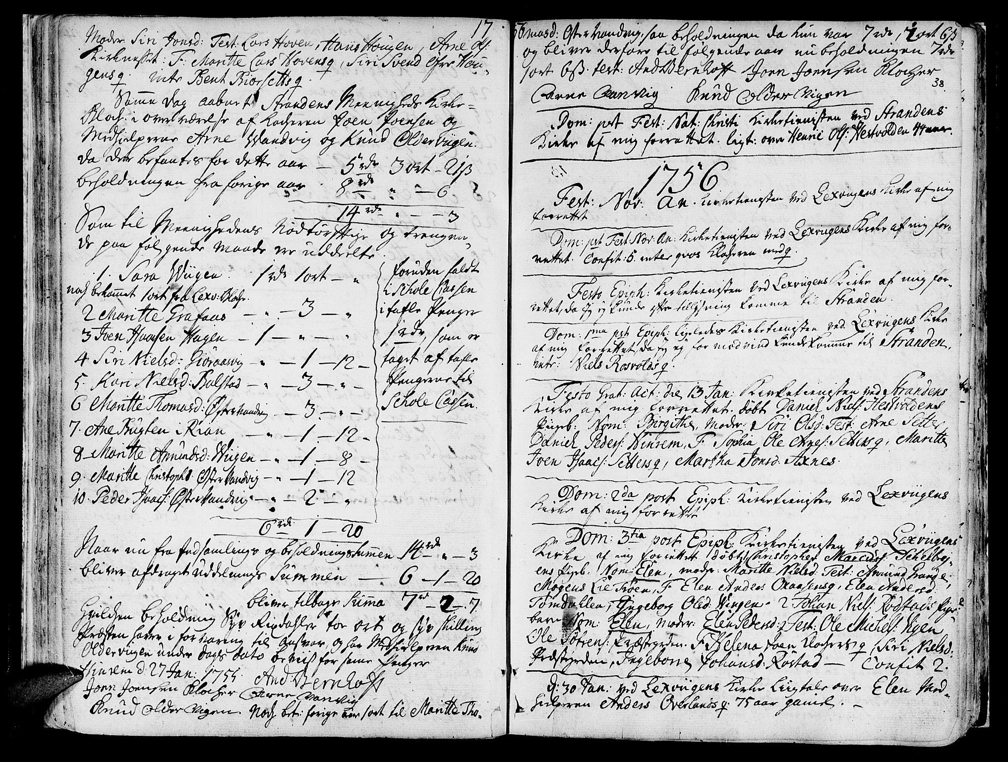 SAT, Ministerialprotokoller, klokkerbøker og fødselsregistre - Nord-Trøndelag, 701/L0003: Ministerialbok nr. 701A03, 1751-1783, s. 38