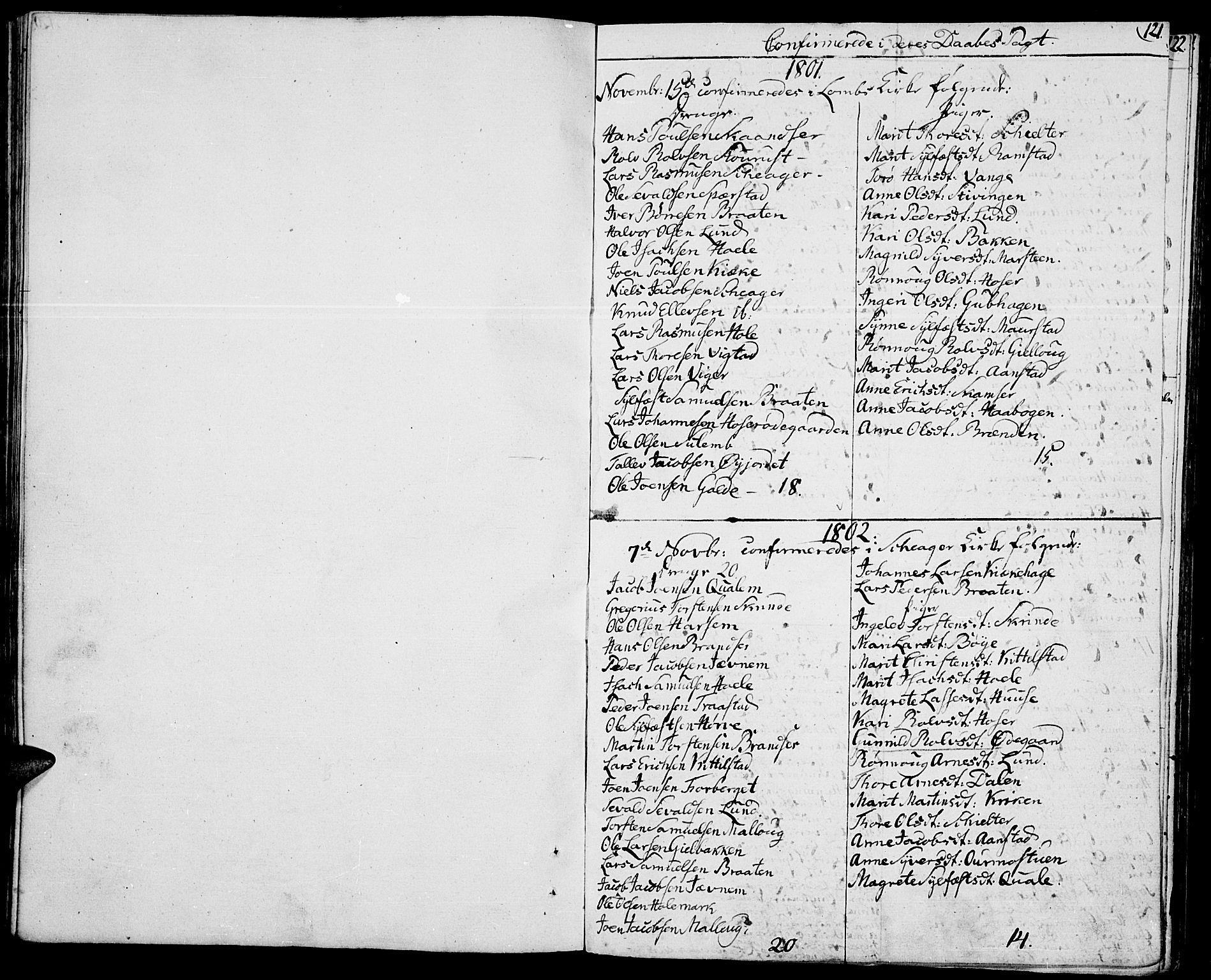 SAH, Lom prestekontor, K/L0003: Ministerialbok nr. 3, 1801-1825, s. 121