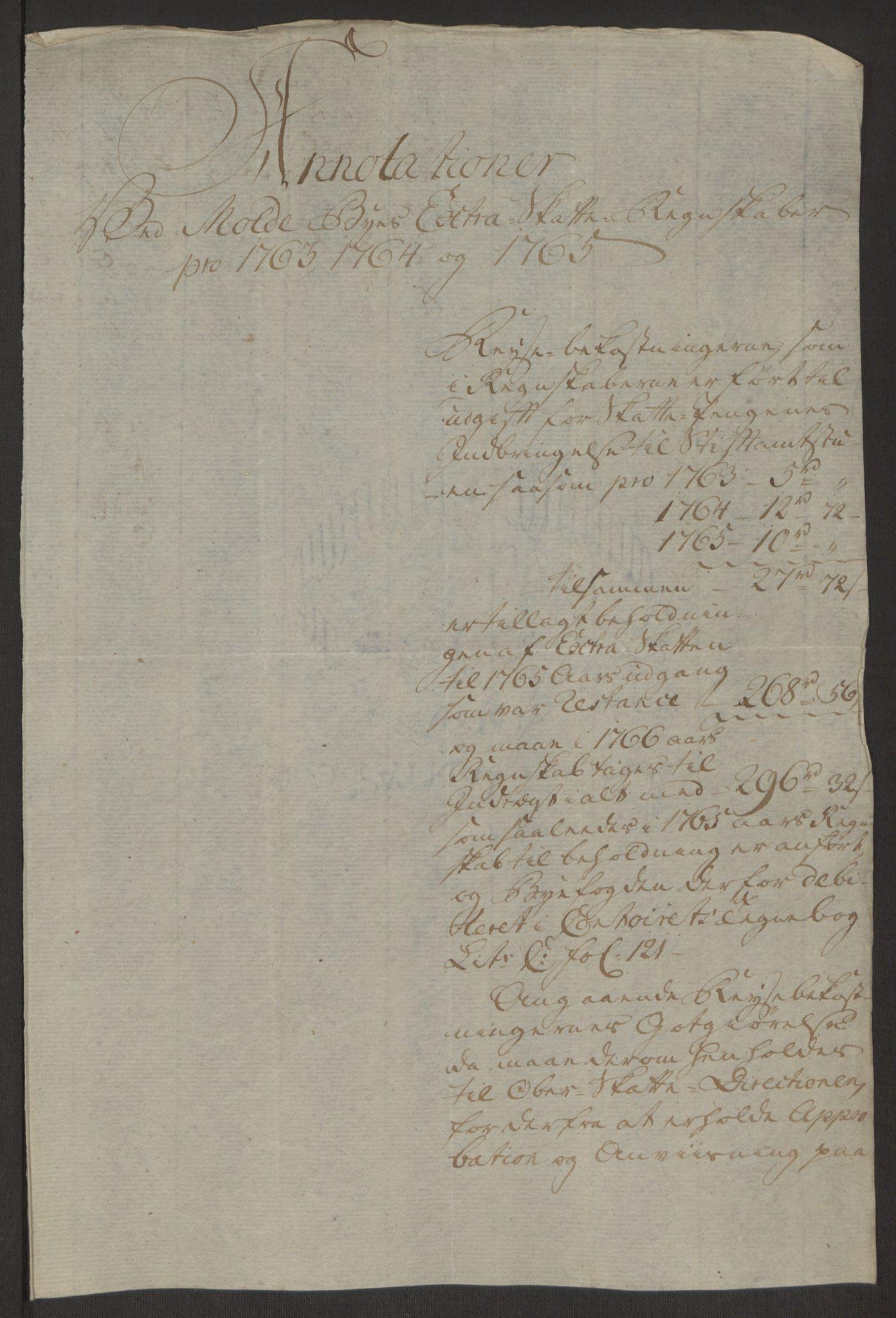 RA, Rentekammeret inntil 1814, Reviderte regnskaper, Byregnskaper, R/Rq/L0487: [Q1] Kontribusjonsregnskap, 1762-1772, s. 139