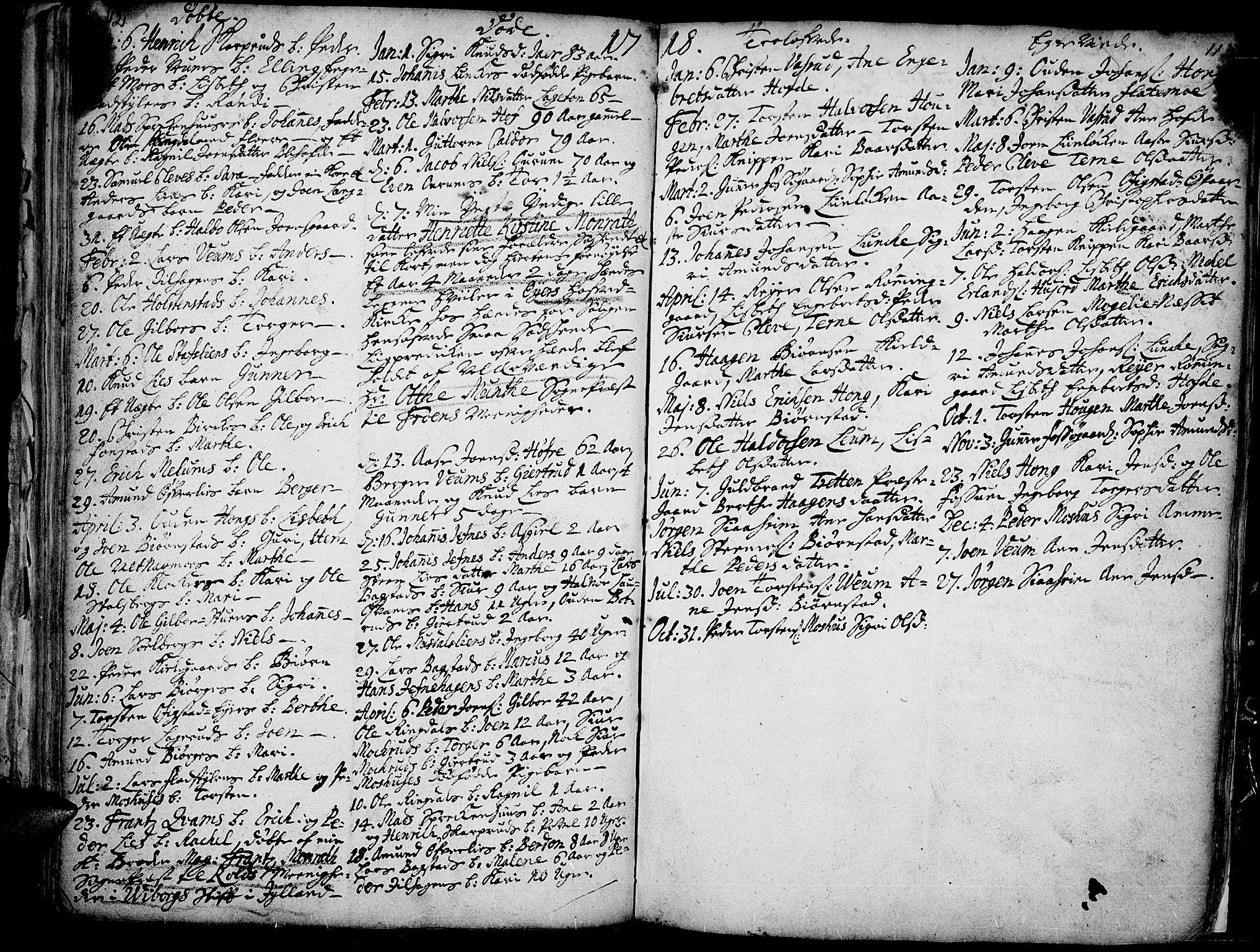 SAH, Øyer prestekontor, Ministerialbok nr. 1, 1671-1727, s. 112-113