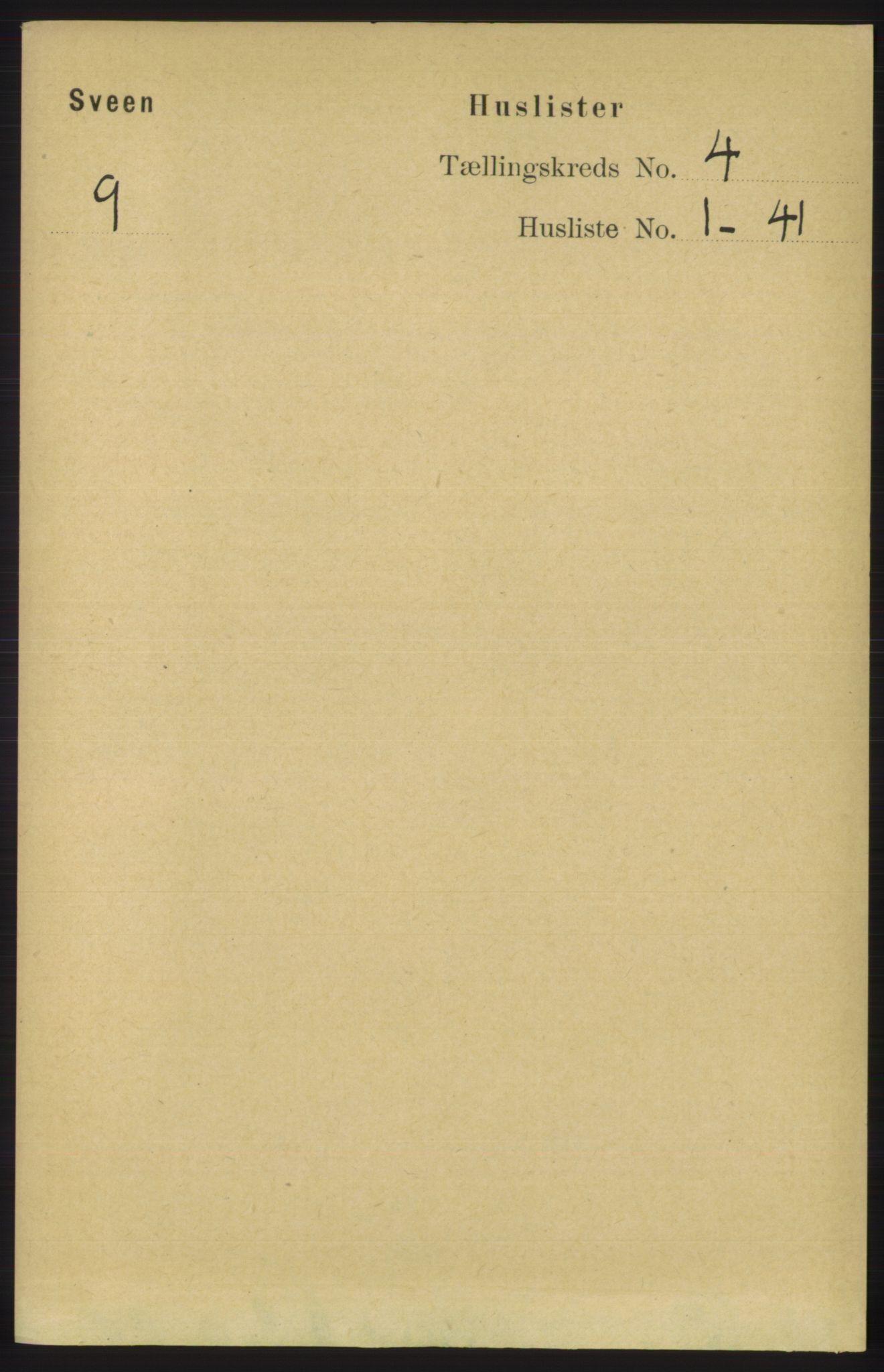 RA, Folketelling 1891 for 1216 Sveio herred, 1891, s. 1093