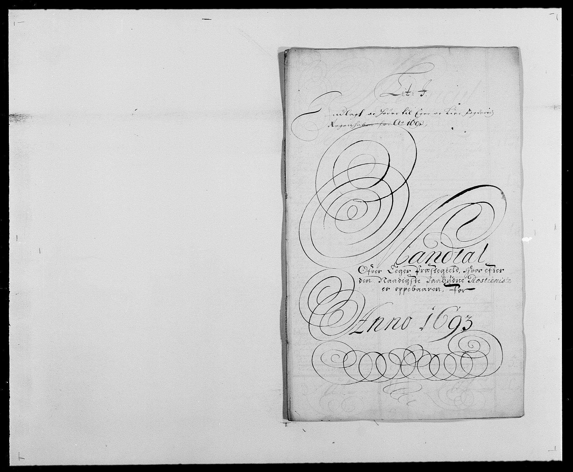 RA, Rentekammeret inntil 1814, Reviderte regnskaper, Fogderegnskap, R28/L1690: Fogderegnskap Eiker og Lier, 1692-1693, s. 193