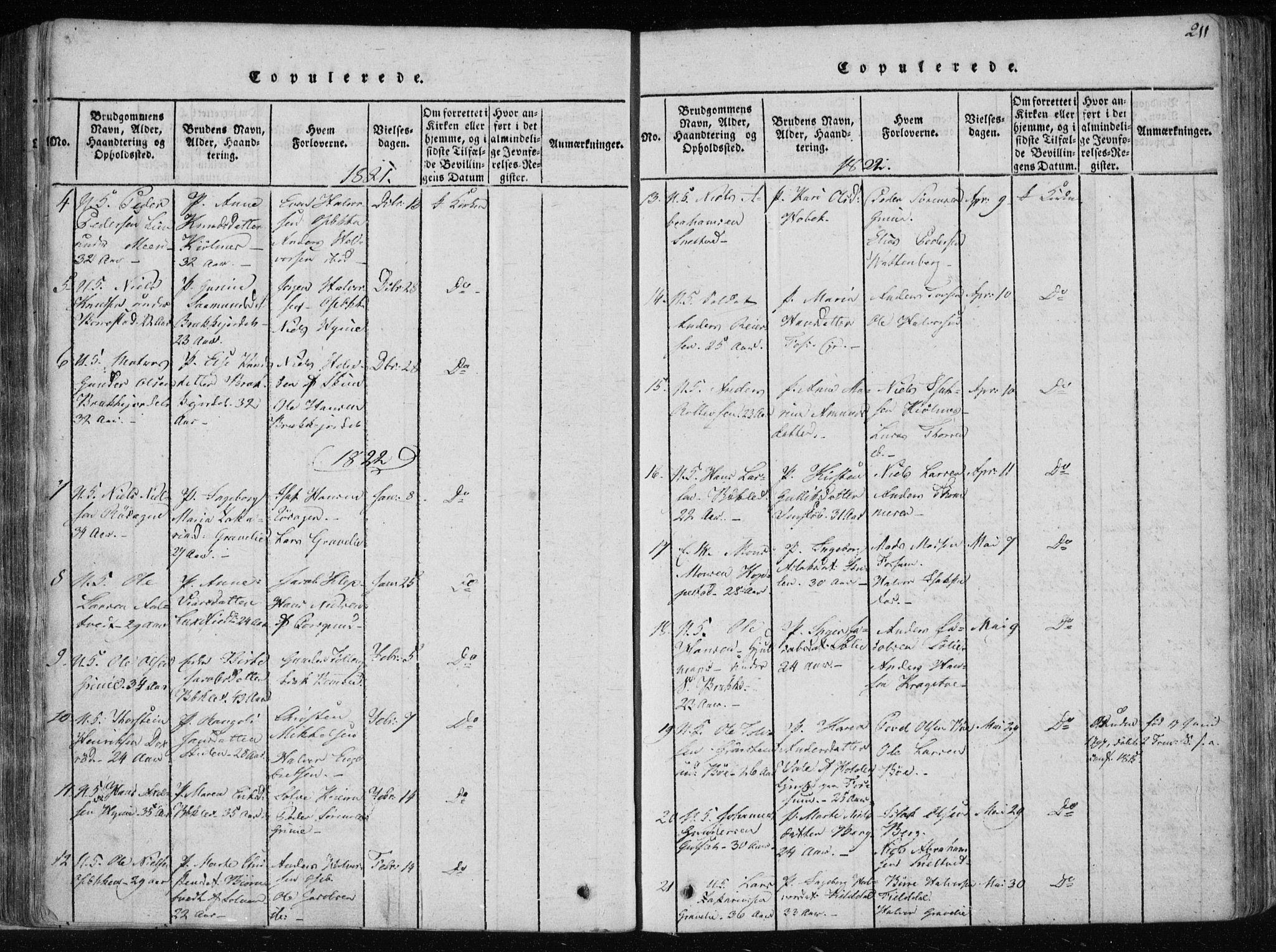 SAKO, Gjerpen kirkebøker, F/Fa/L0004: Ministerialbok nr. 4, 1814-1823, s. 211