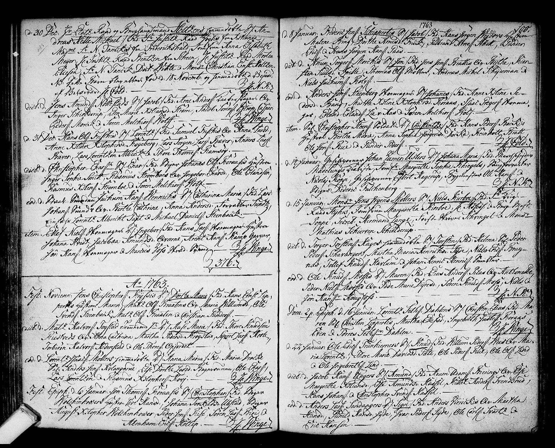 SAKO, Kongsberg kirkebøker, F/Fa/L0004: Ministerialbok nr. I 4, 1756-1768, s. 100