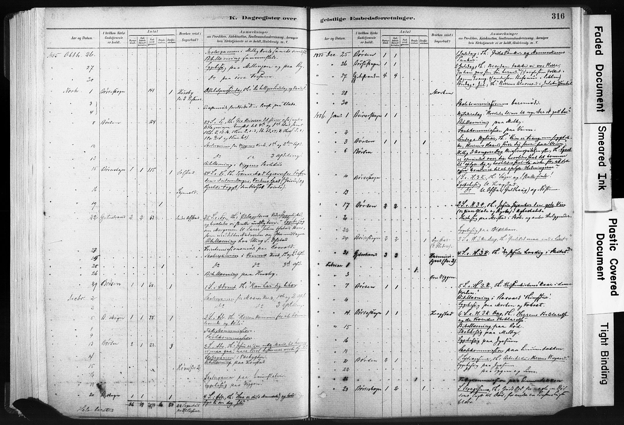 SAT, Ministerialprotokoller, klokkerbøker og fødselsregistre - Sør-Trøndelag, 665/L0773: Ministerialbok nr. 665A08, 1879-1905, s. 316