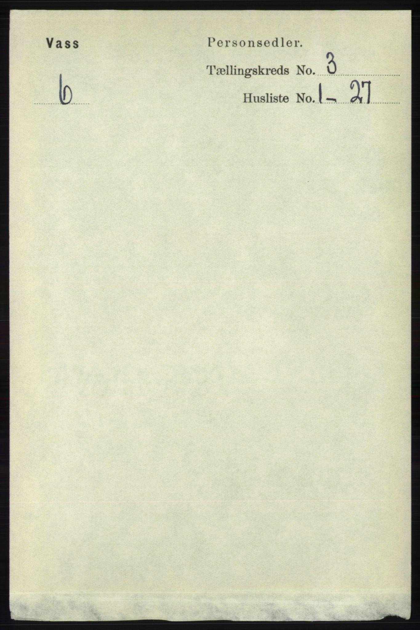 RA, Folketelling 1891 for 1155 Vats herred, 1891, s. 448