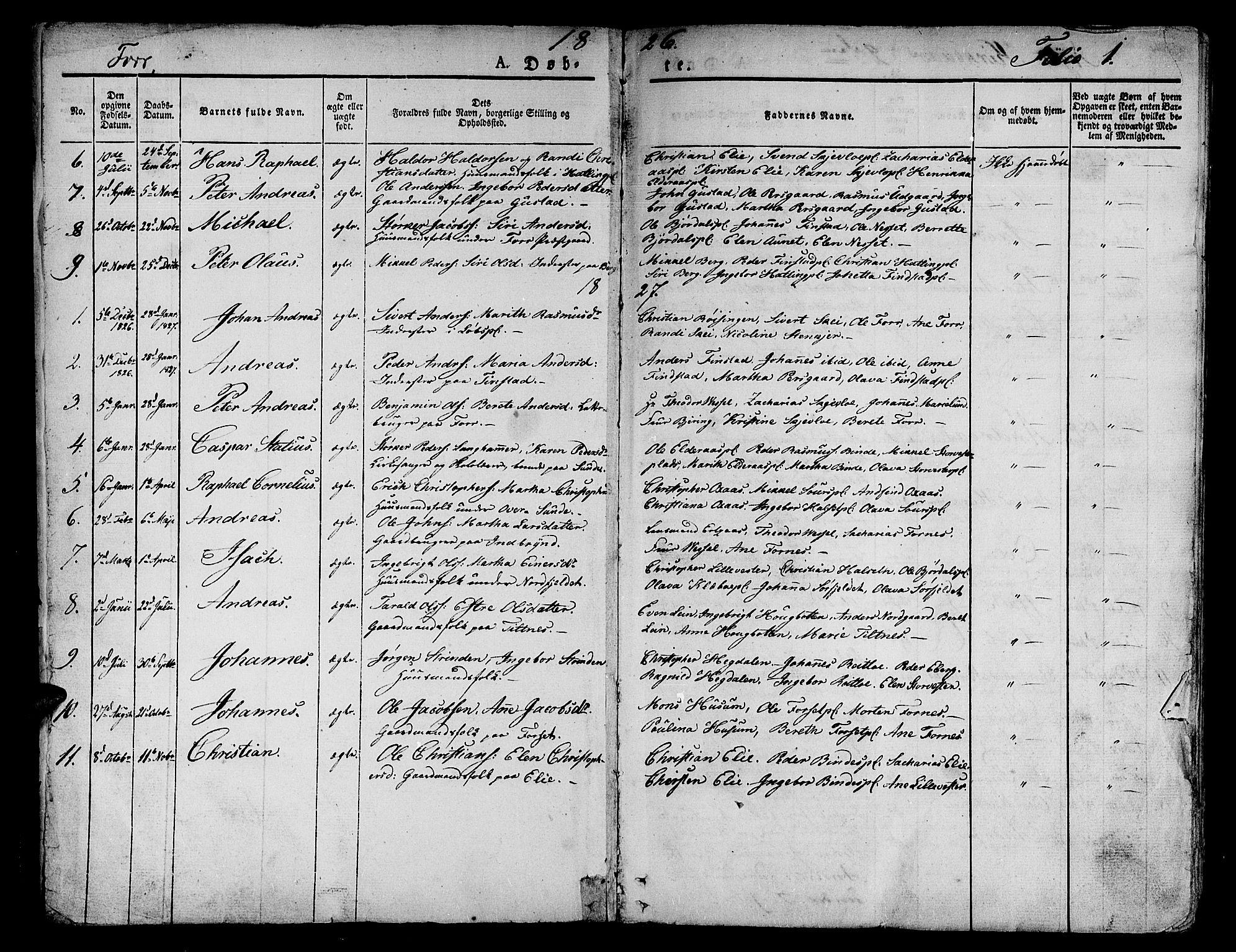 SAT, Ministerialprotokoller, klokkerbøker og fødselsregistre - Nord-Trøndelag, 746/L0445: Ministerialbok nr. 746A04, 1826-1846, s. 1