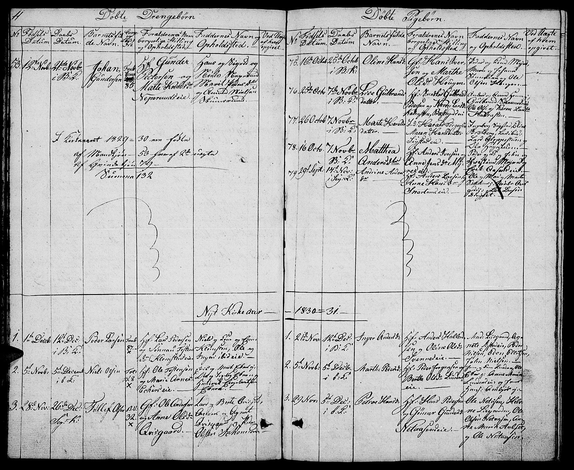 SAH, Biri prestekontor, Klokkerbok nr. 2, 1828-1842, s. 11