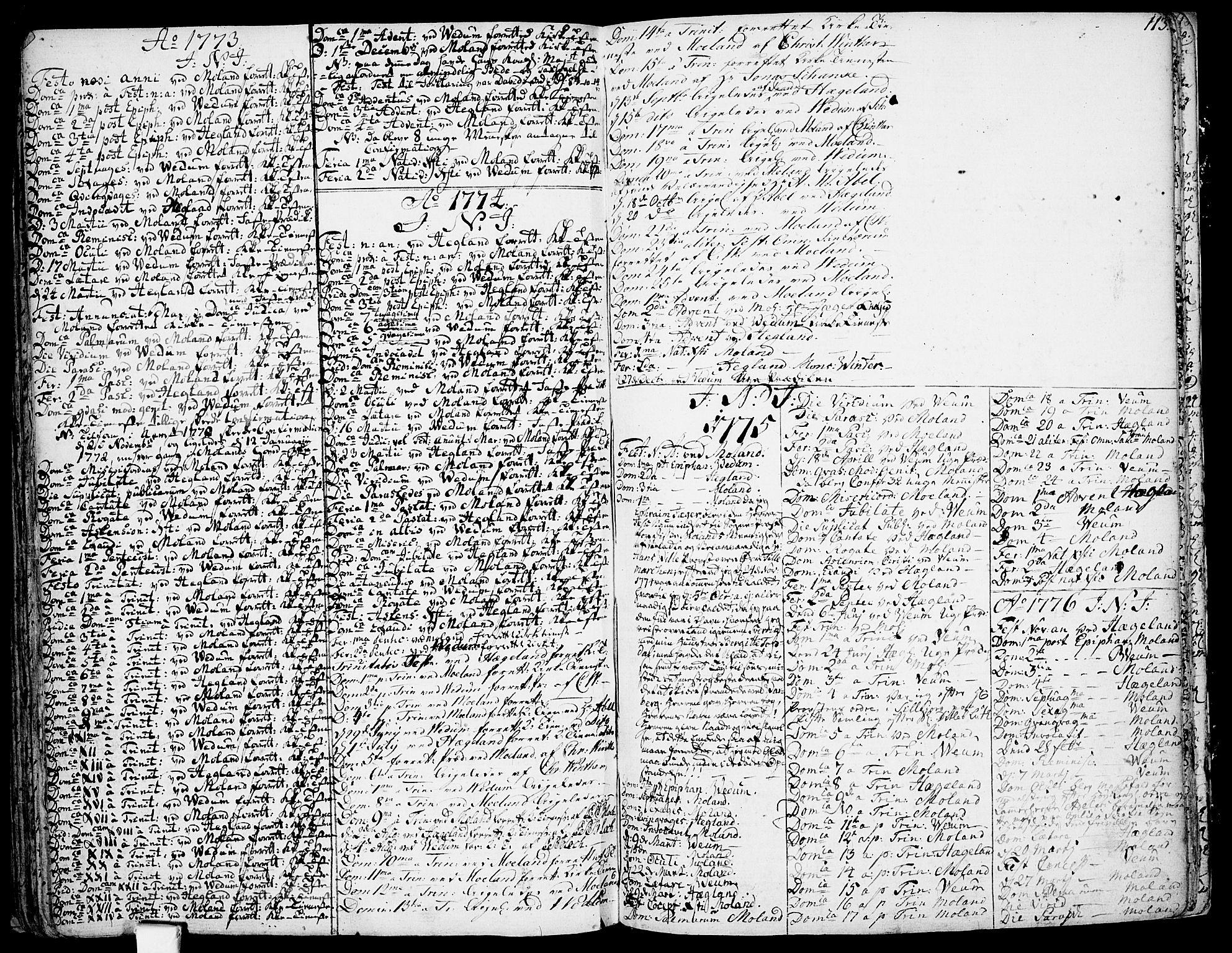 SAKO, Fyresdal kirkebøker, F/Fa/L0002: Ministerialbok nr. I 2, 1769-1814, s. 113