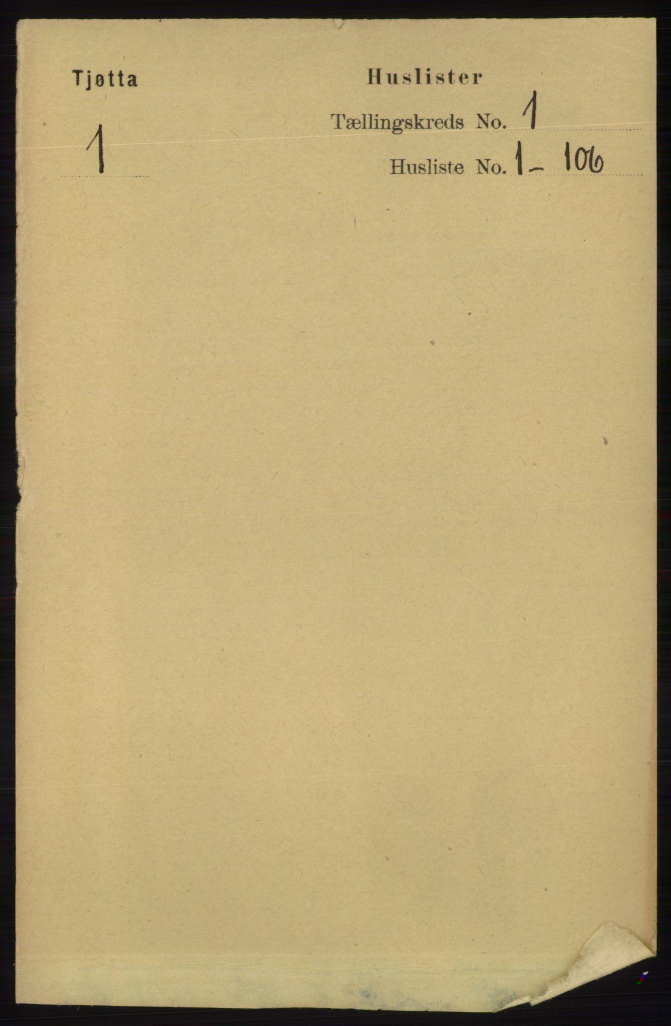 RA, Folketelling 1891 for 1817 Tjøtta herred, 1891, s. 22