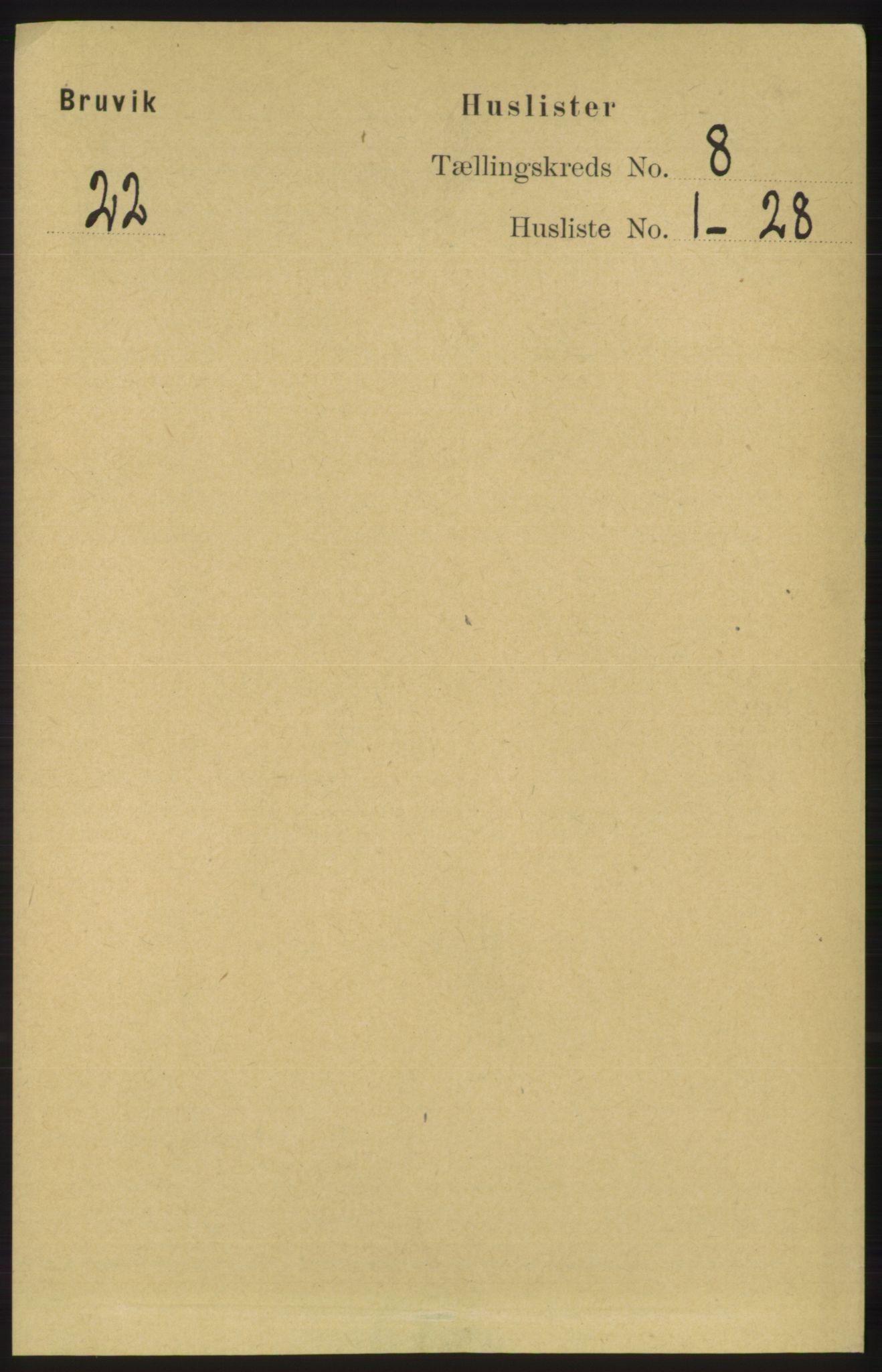 RA, Folketelling 1891 for 1251 Bruvik herred, 1891, s. 2860
