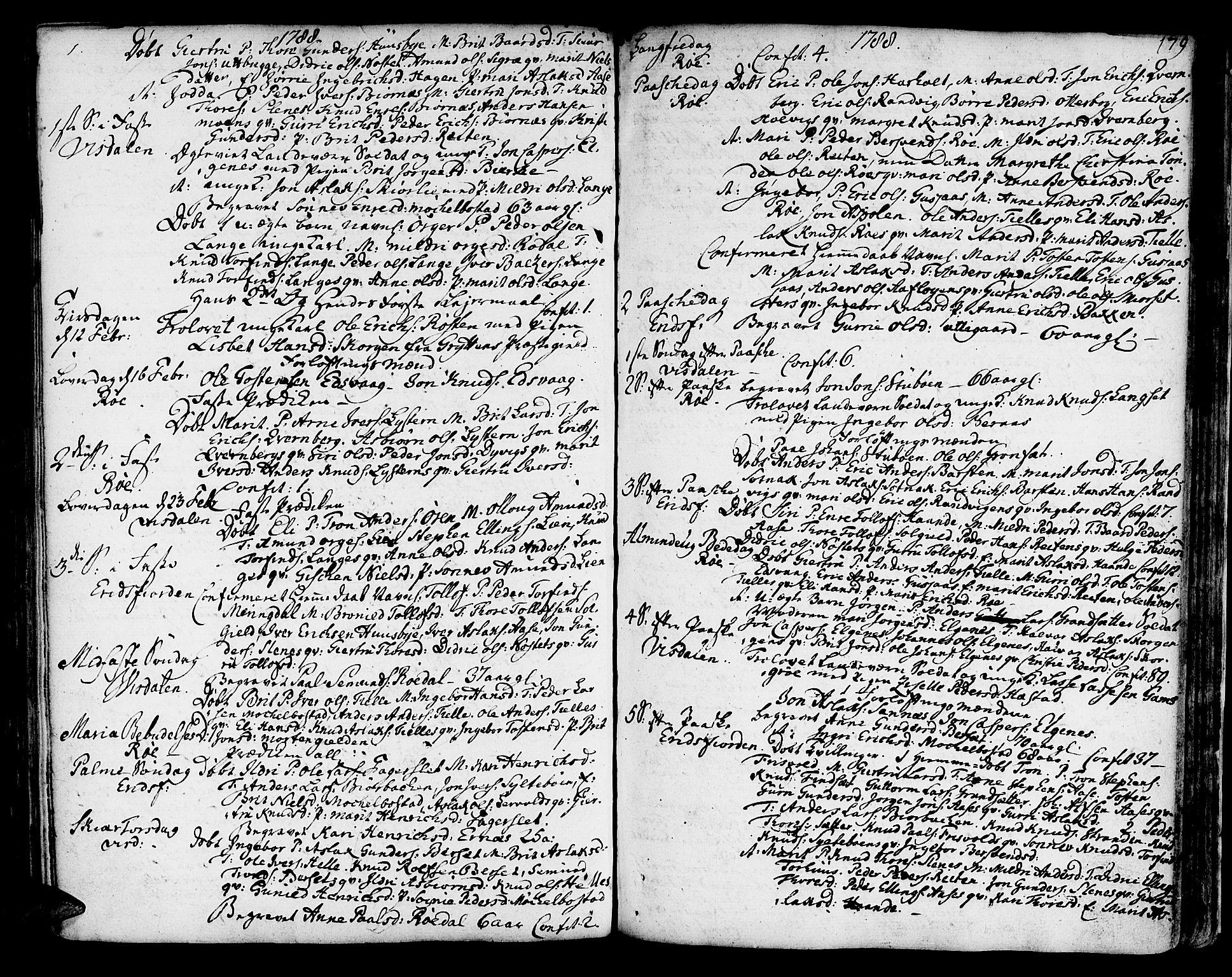 SAT, Ministerialprotokoller, klokkerbøker og fødselsregistre - Møre og Romsdal, 551/L0621: Ministerialbok nr. 551A01, 1757-1803, s. 179