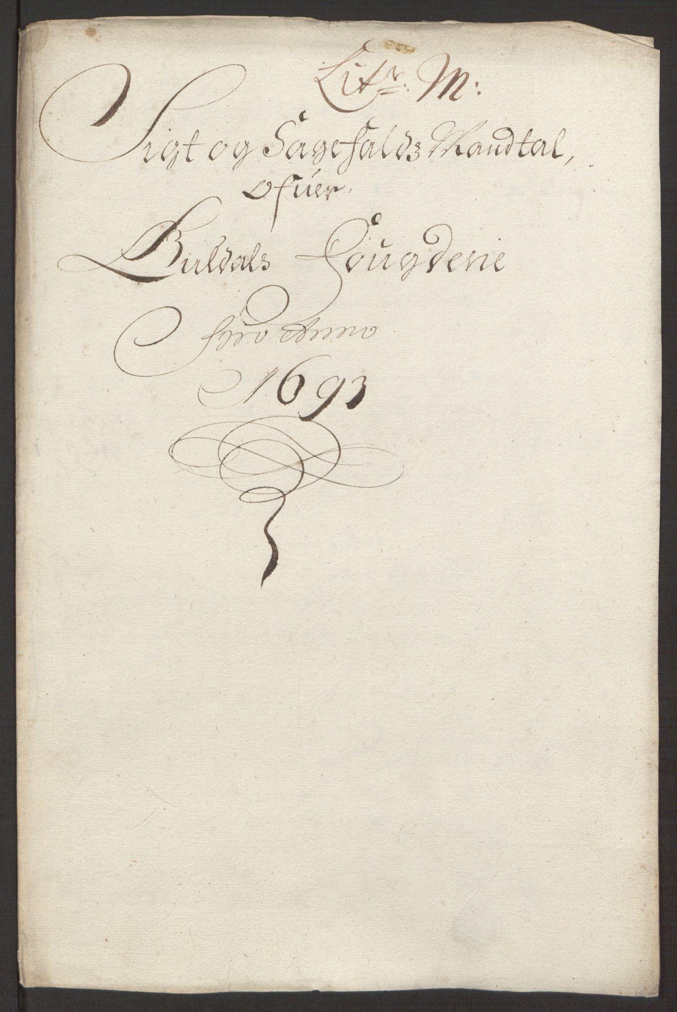 RA, Rentekammeret inntil 1814, Reviderte regnskaper, Fogderegnskap, R59/L3943: Fogderegnskap Gauldal, 1693, s. 143