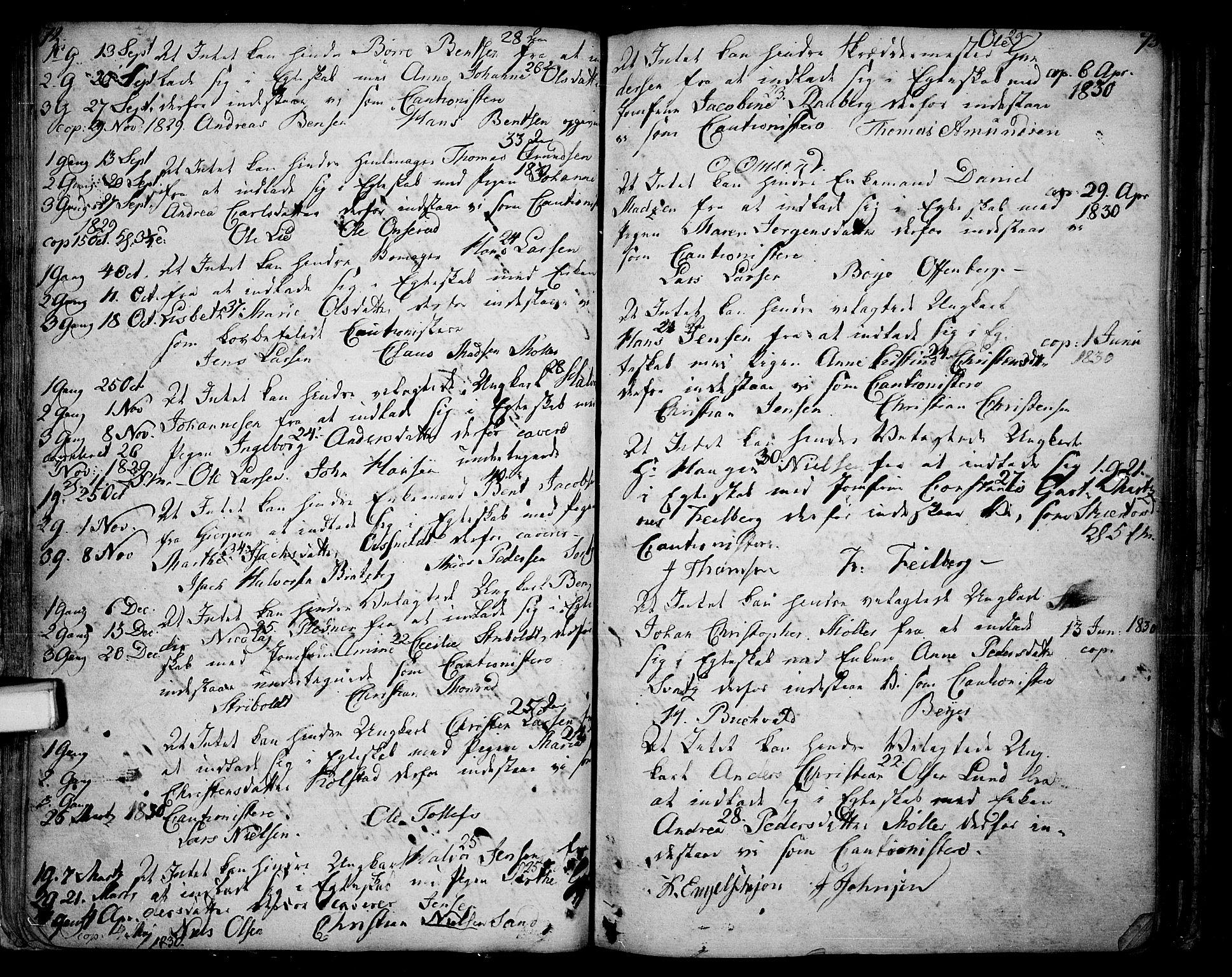 SAKO, Skien kirkebøker, F/Fa/L0004: Ministerialbok nr. 4, 1792-1814, s. 72-73