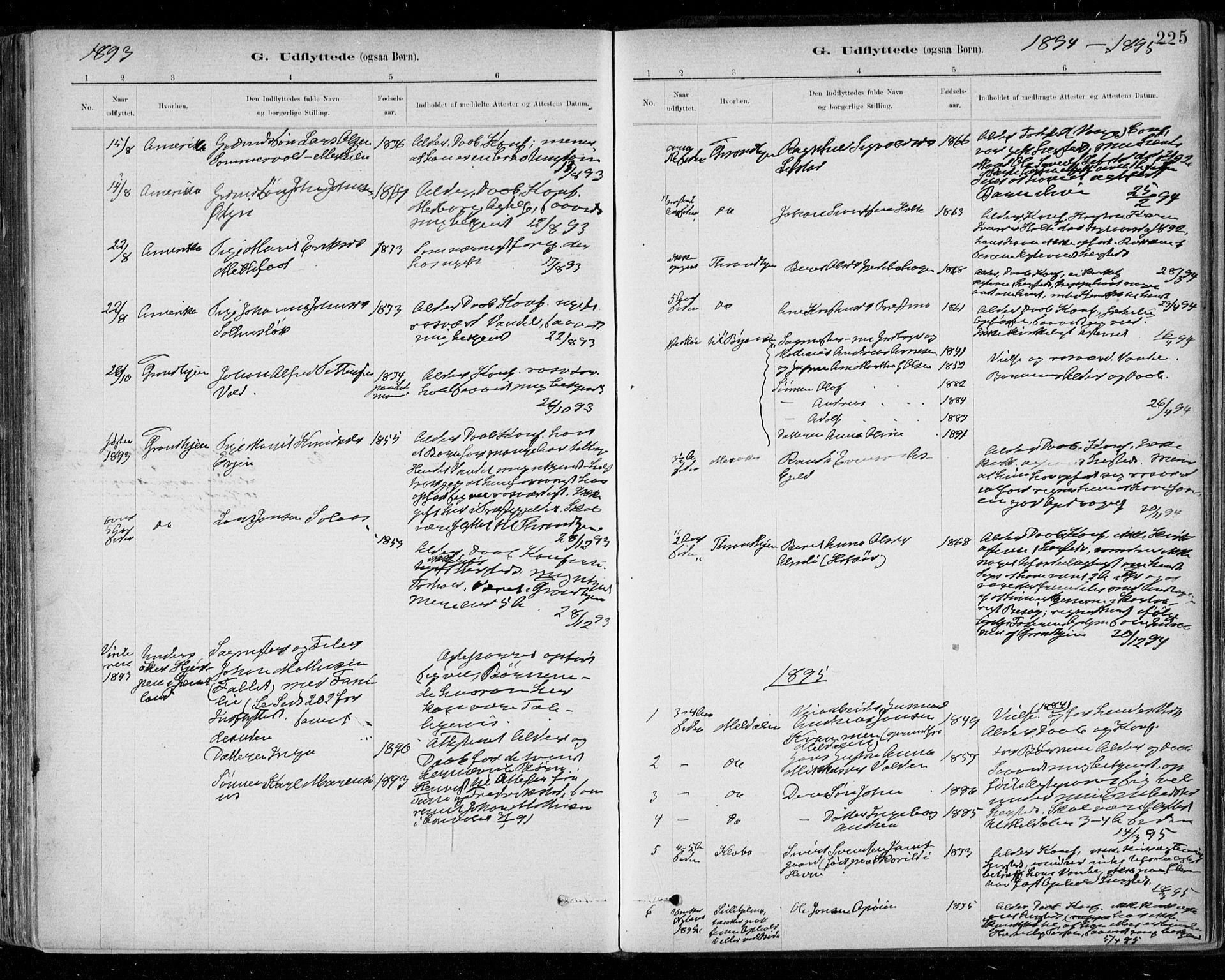 SAT, Ministerialprotokoller, klokkerbøker og fødselsregistre - Sør-Trøndelag, 668/L0810: Ministerialbok nr. 668A10, 1881-1894, s. 225