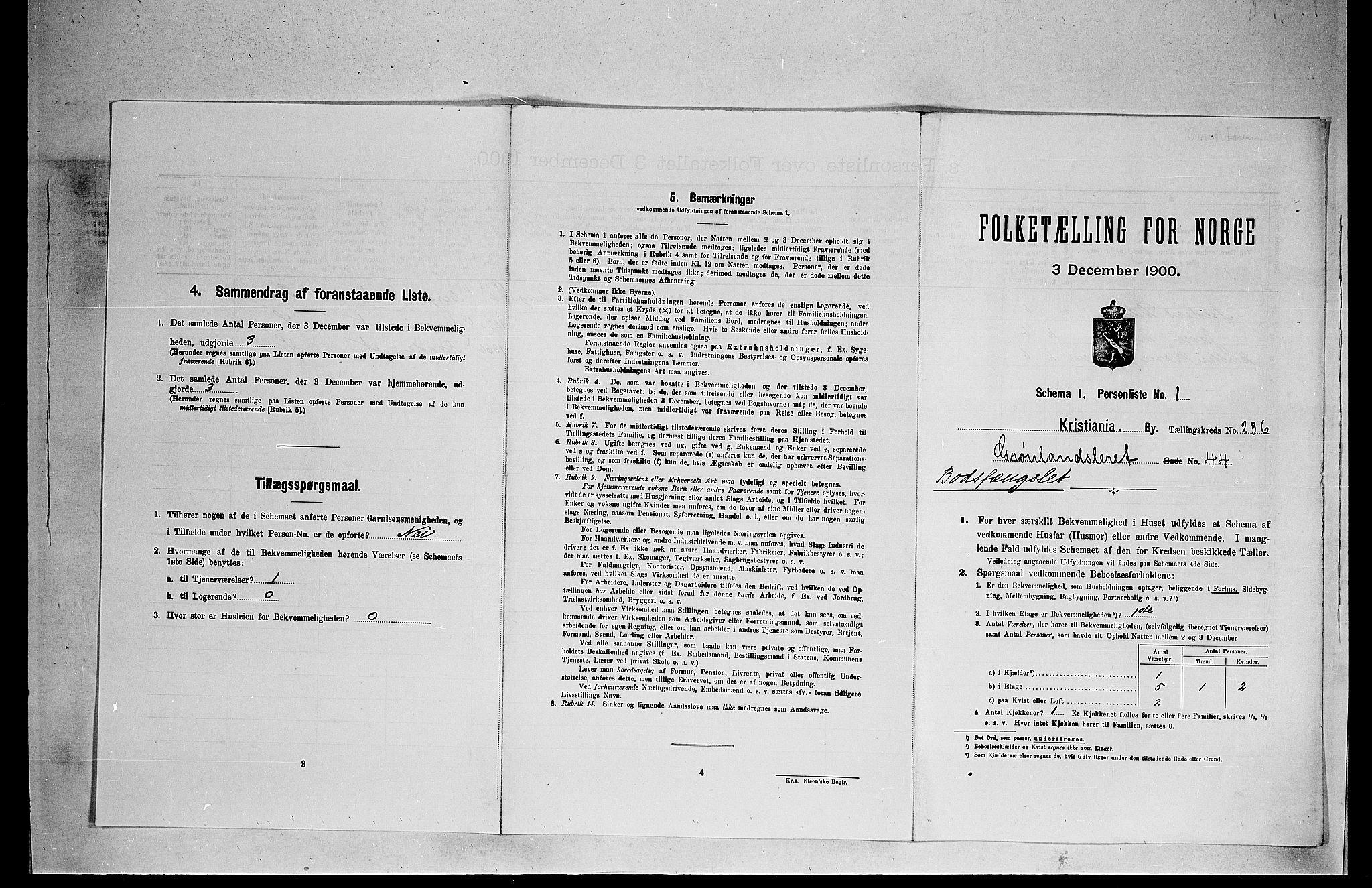 SAO, Folketelling 1900 for 0301 Kristiania kjøpstad, 1900, s. 30319