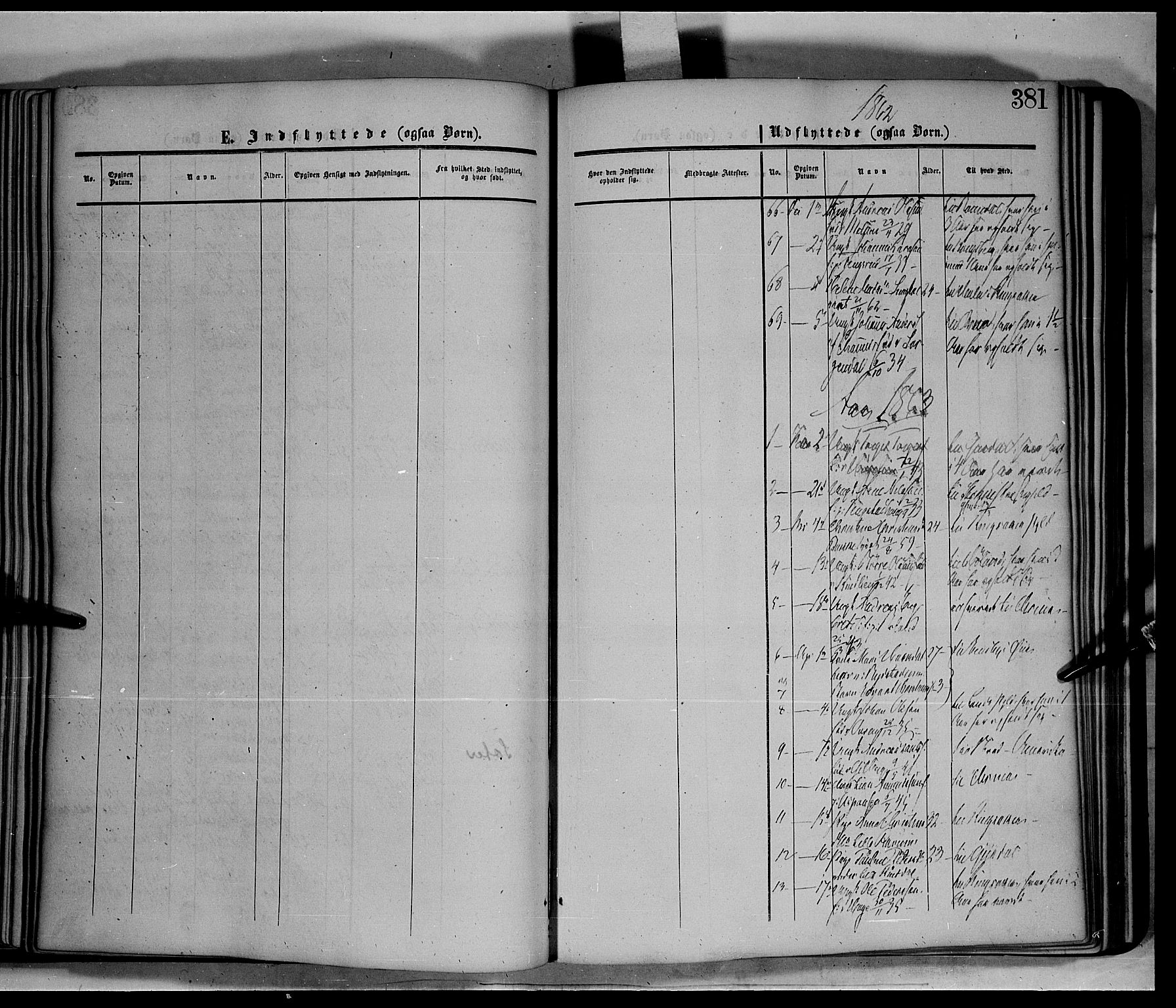 SAH, Fåberg prestekontor, Ministerialbok nr. 6B, 1855-1867, s. 381