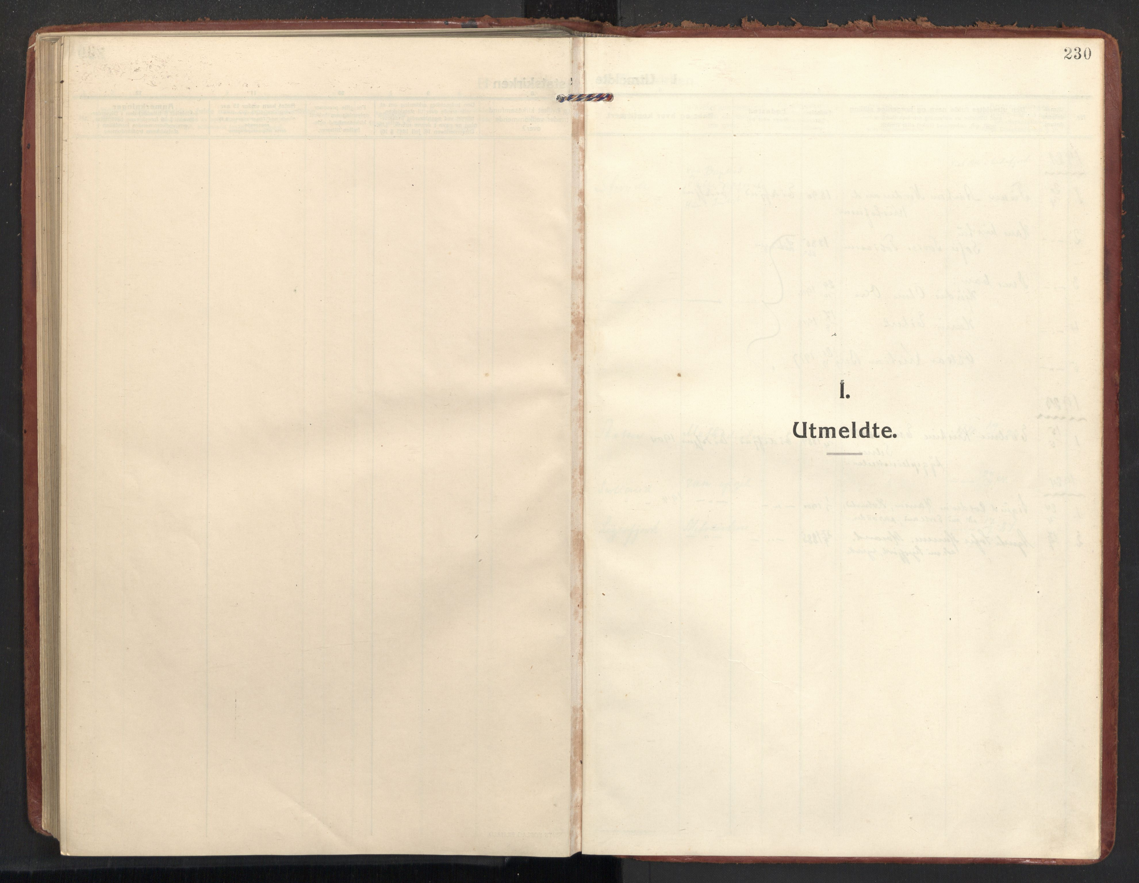 SAT, Ministerialprotokoller, klokkerbøker og fødselsregistre - Nordland, 890/L1288: Ministerialbok nr. 890A03, 1915-1925, s. 230