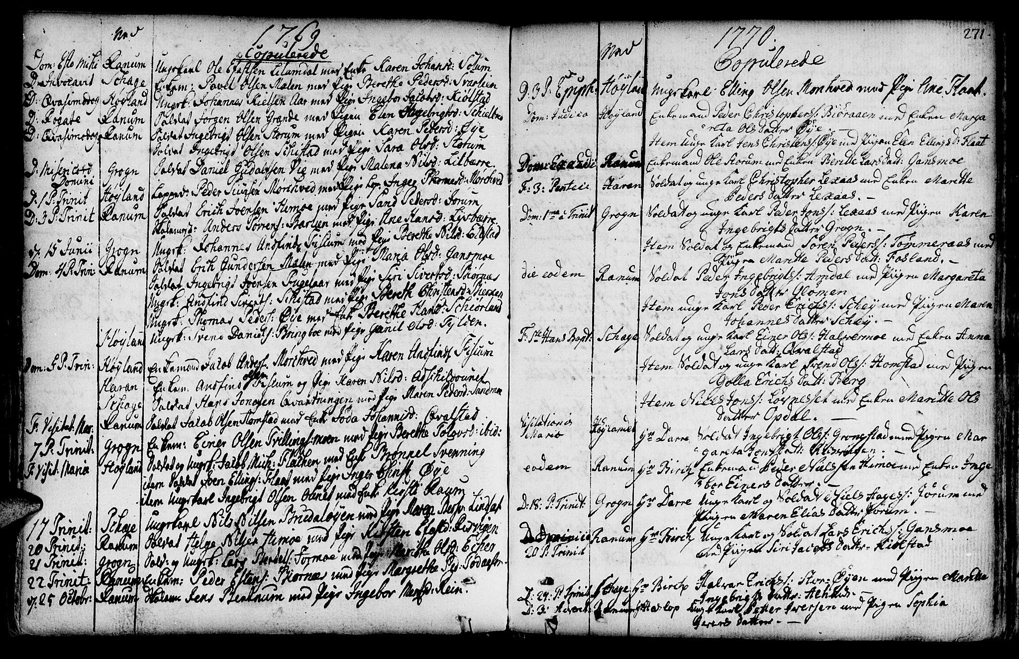 SAT, Ministerialprotokoller, klokkerbøker og fødselsregistre - Nord-Trøndelag, 764/L0542: Ministerialbok nr. 764A02, 1748-1779, s. 271