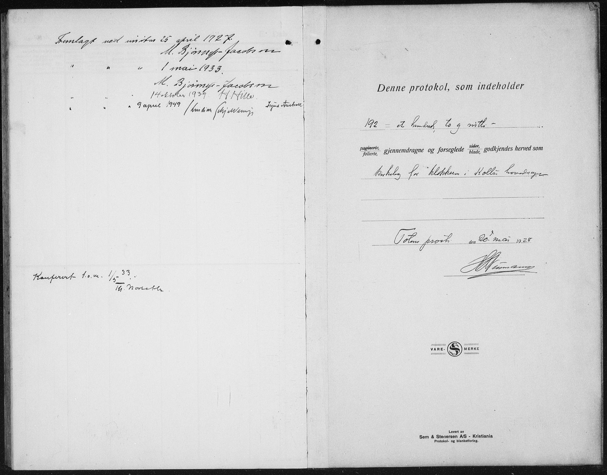 SAH, Kolbu prestekontor, Klokkerbok nr. 2, 1925-1942