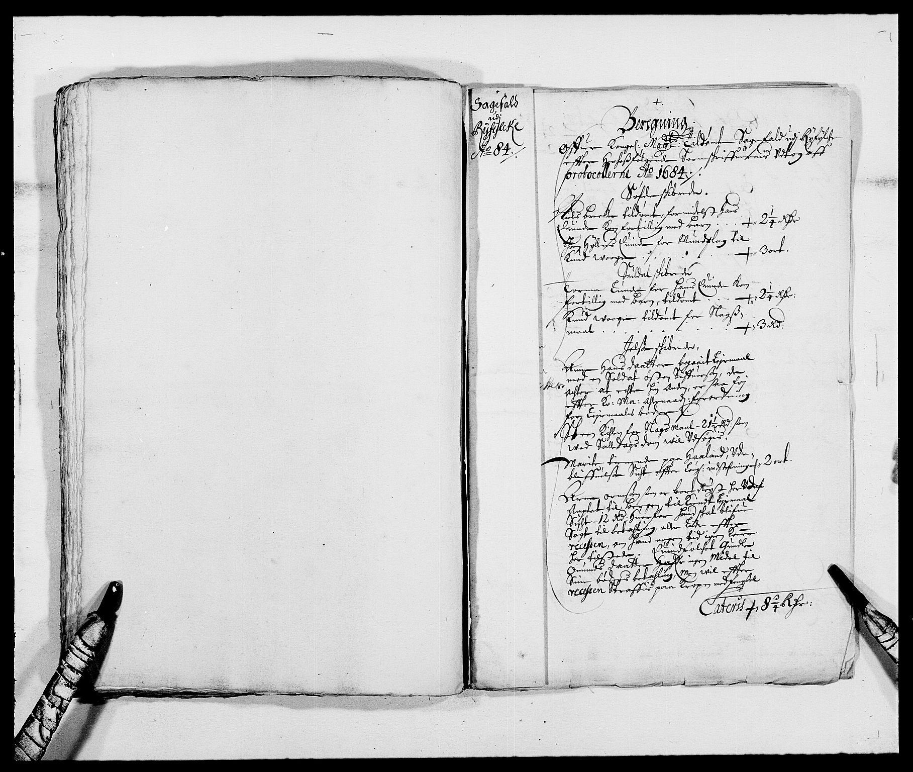 RA, Rentekammeret inntil 1814, Reviderte regnskaper, Fogderegnskap, R47/L2854: Fogderegnskap Ryfylke, 1684, s. 57