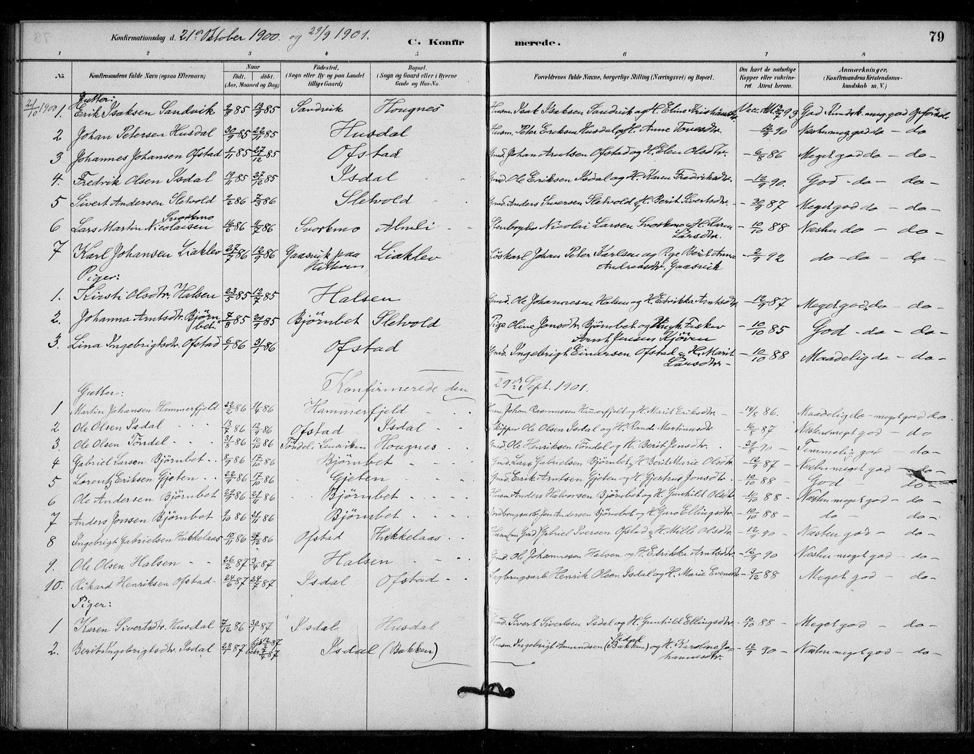 SAT, Ministerialprotokoller, klokkerbøker og fødselsregistre - Sør-Trøndelag, 670/L0836: Ministerialbok nr. 670A01, 1879-1904, s. 79