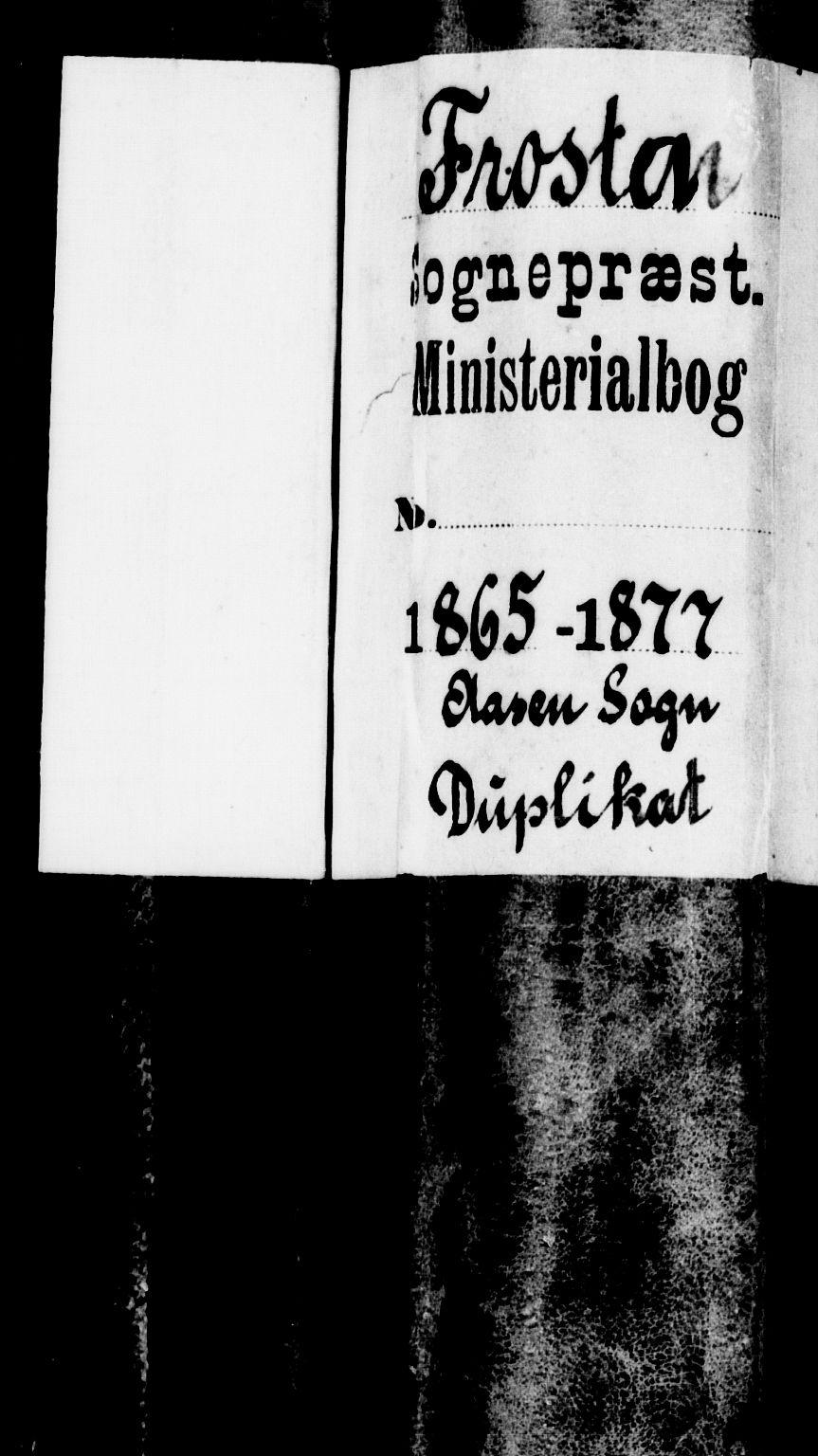 SAT, Ministerialprotokoller, klokkerbøker og fødselsregistre - Nord-Trøndelag, 714/L0133: Klokkerbok nr. 714C02, 1865-1877