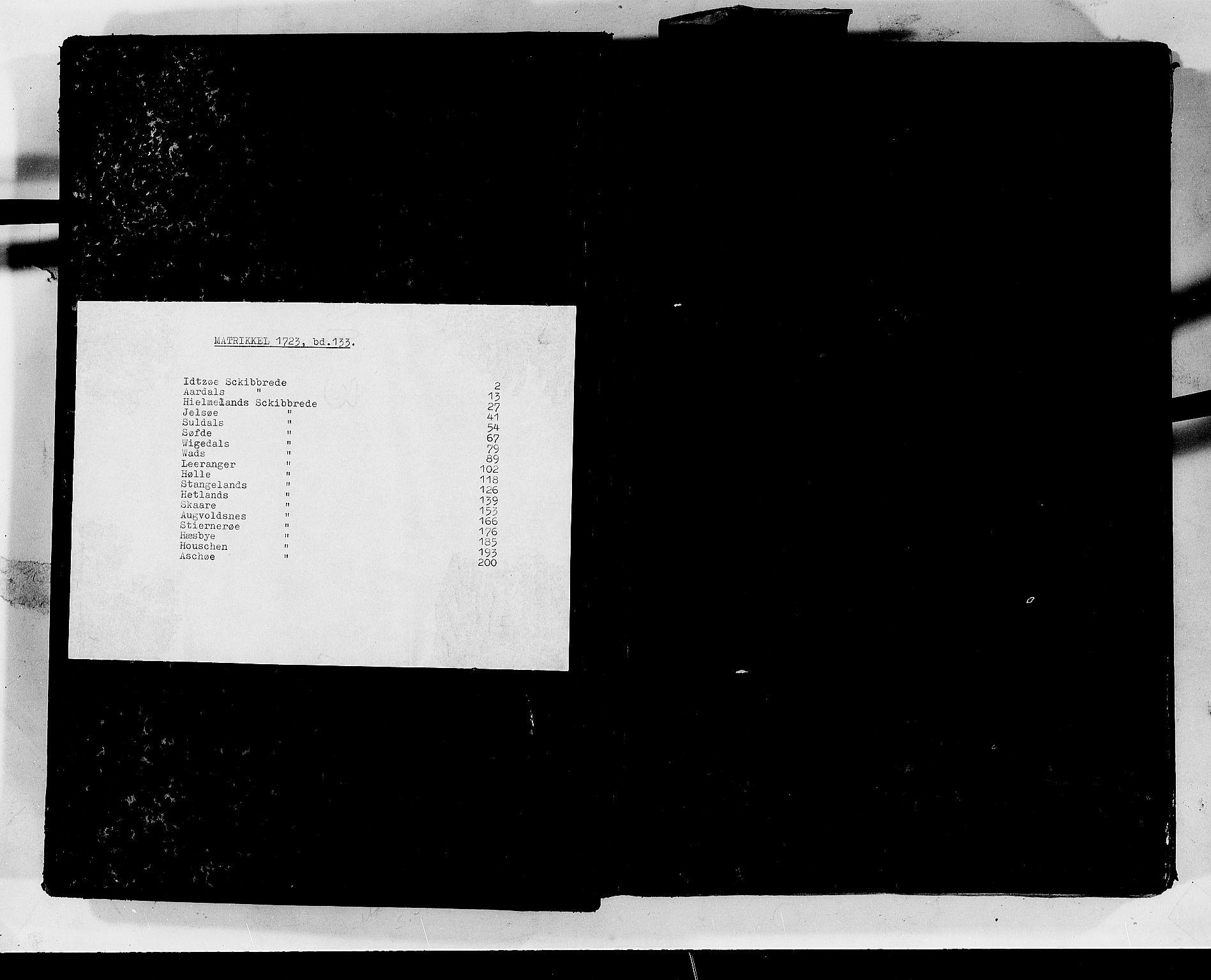 RA, Rentekammeret inntil 1814, Realistisk ordnet avdeling, N/Nb/Nbf/L0133b: Ryfylke matrikkelprotokoll, 1723, s. upaginert