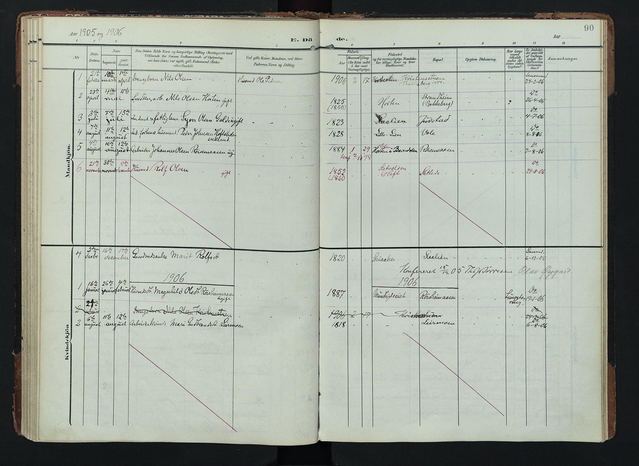 SAH, Lom prestekontor, K/L0012: Ministerialbok nr. 12, 1904-1928, s. 90
