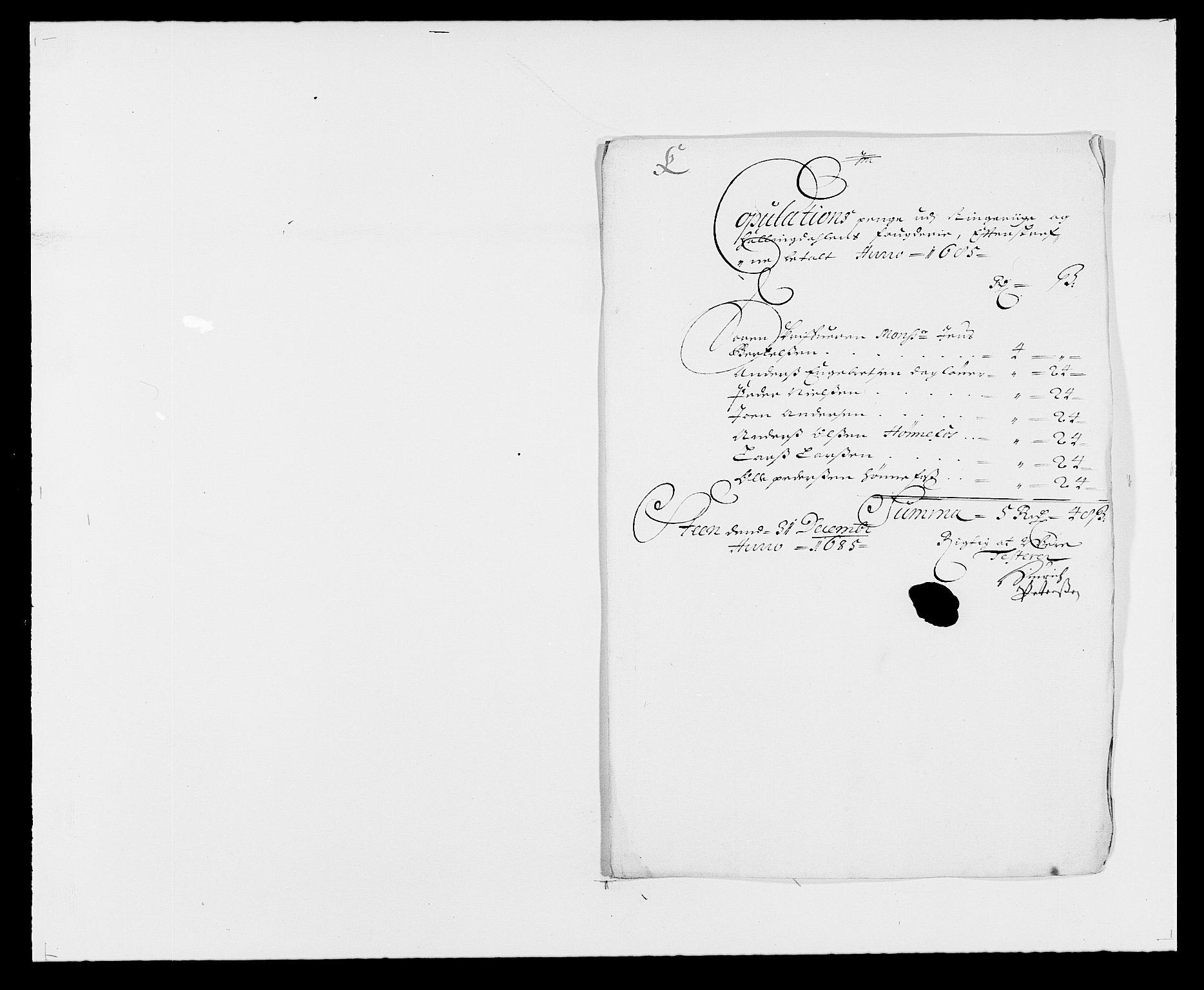 RA, Rentekammeret inntil 1814, Reviderte regnskaper, Fogderegnskap, R21/L1446: Fogderegnskap Ringerike og Hallingdal, 1683-1686, s. 386