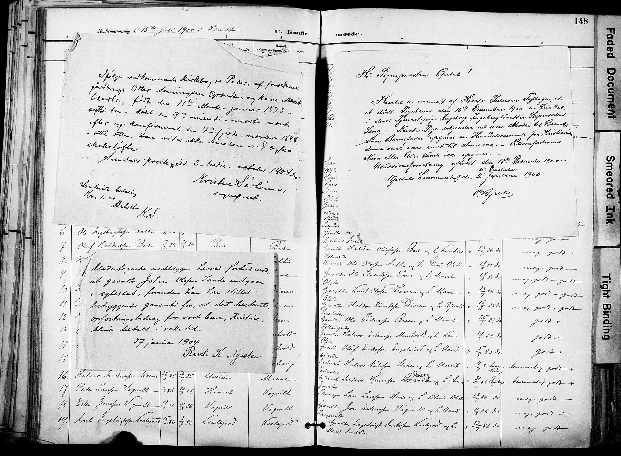 SAT, Ministerialprotokoller, klokkerbøker og fødselsregistre - Sør-Trøndelag, 678/L0902: Ministerialbok nr. 678A11, 1895-1911, s. 148