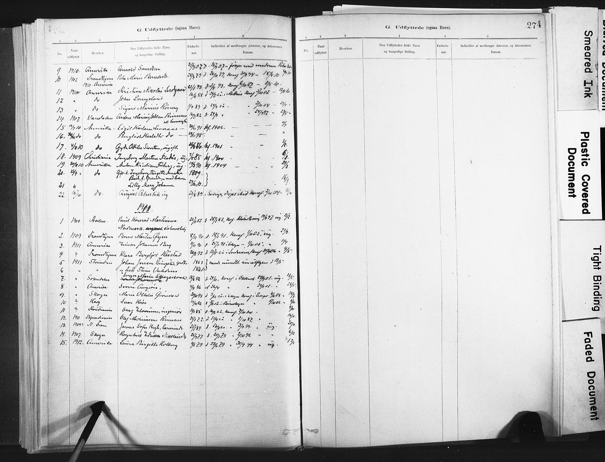 SAT, Ministerialprotokoller, klokkerbøker og fødselsregistre - Nord-Trøndelag, 721/L0207: Ministerialbok nr. 721A02, 1880-1911, s. 274