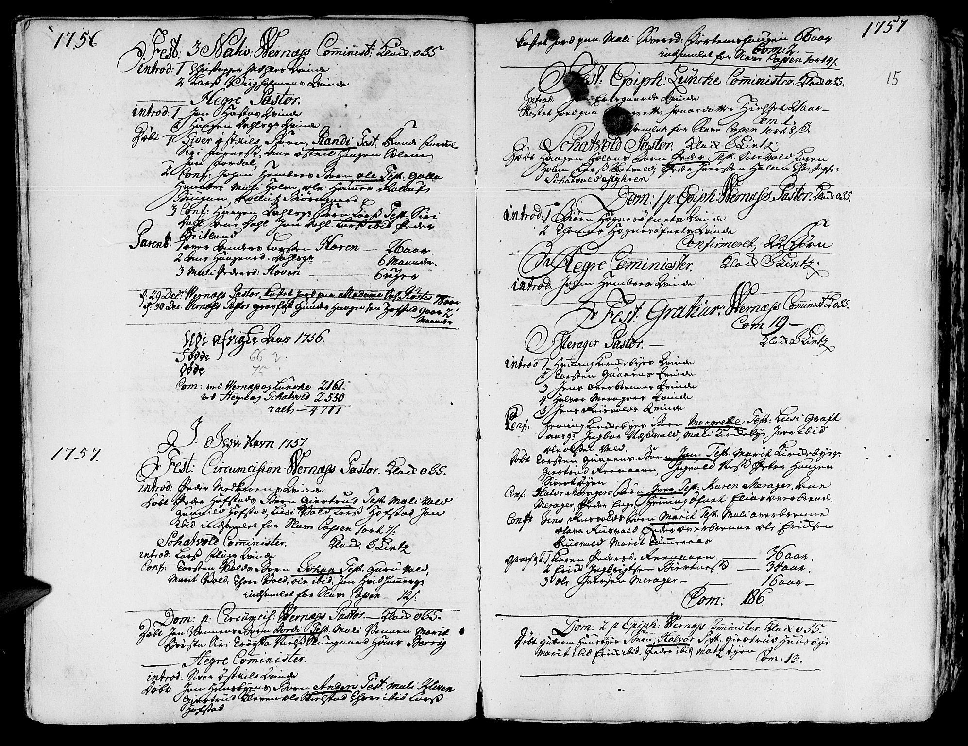 SAT, Ministerialprotokoller, klokkerbøker og fødselsregistre - Nord-Trøndelag, 709/L0057: Ministerialbok nr. 709A05, 1755-1780, s. 15