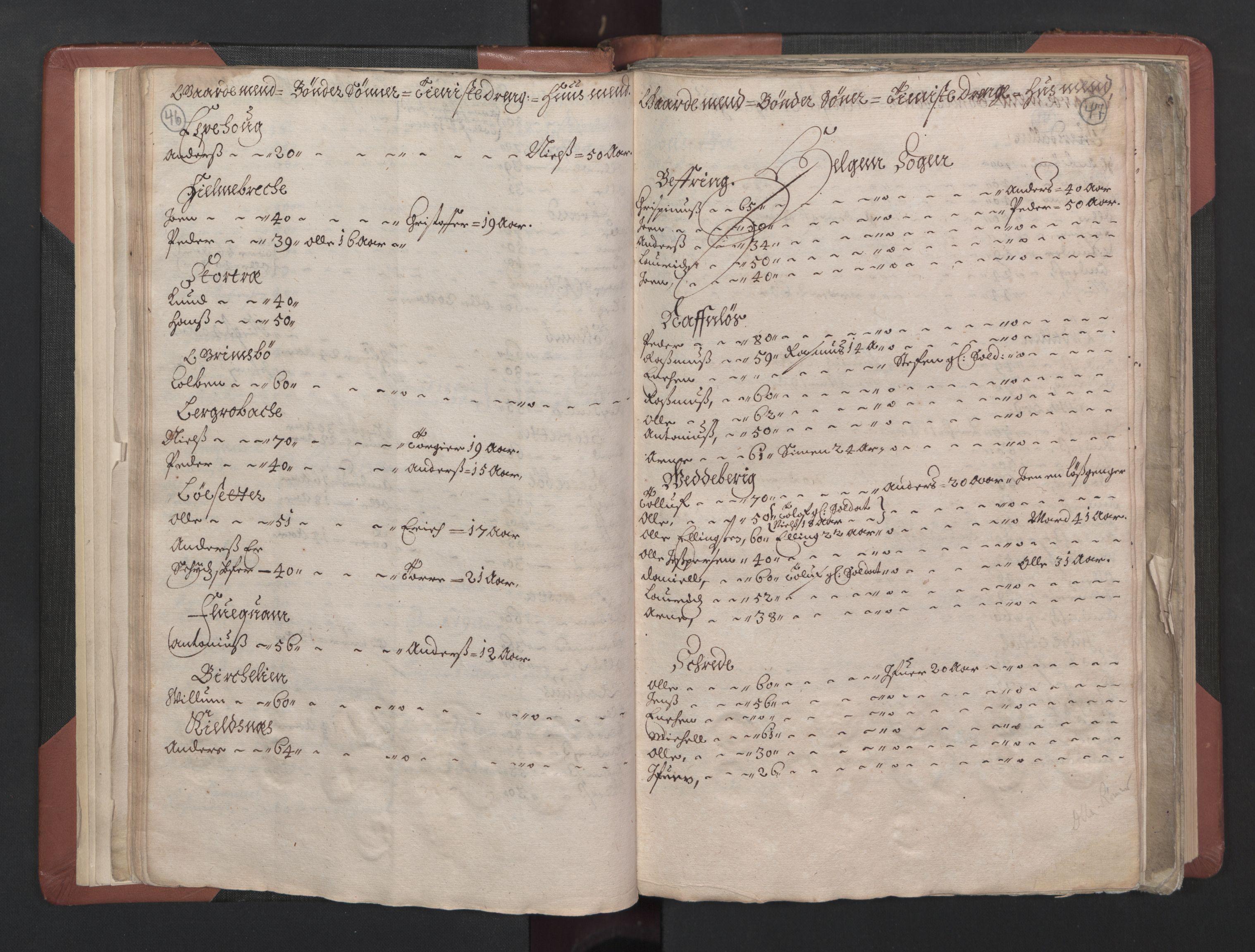 RA, Fogdenes og sorenskrivernes manntall 1664-1666, nr. 15: Nordfjord fogderi og Sunnfjord fogderi, 1664, s. 46-47