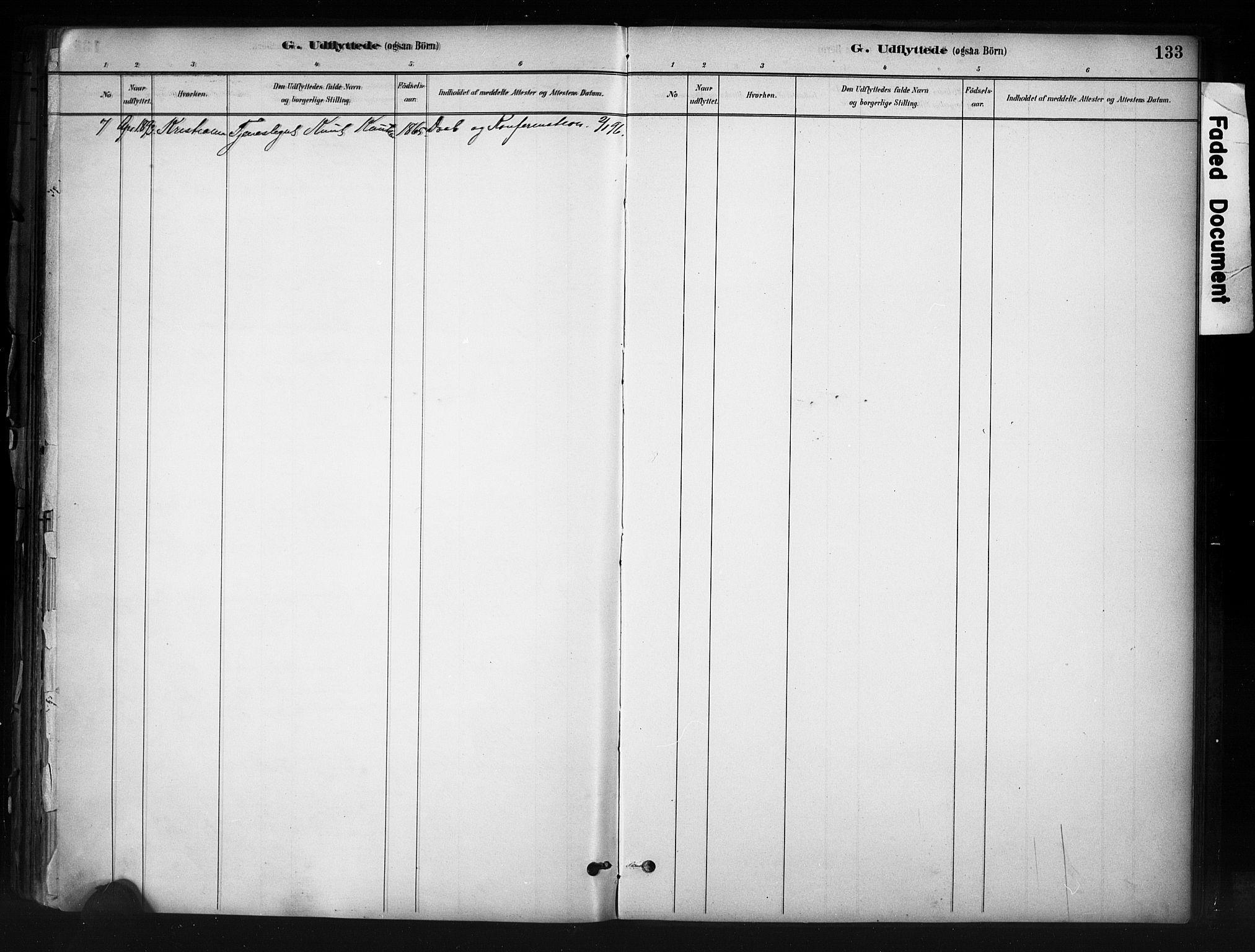 SAH, Nord-Aurdal prestekontor, Ministerialbok nr. 13, 1883-1895, s. 133
