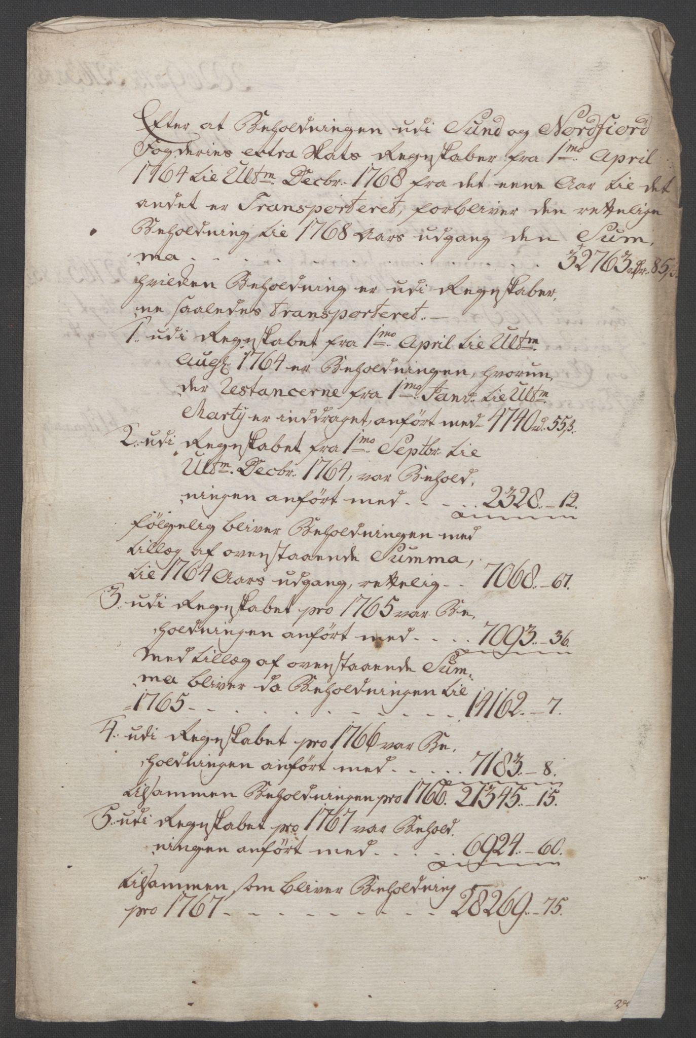 RA, Rentekammeret inntil 1814, Reviderte regnskaper, Fogderegnskap, R53/L3550: Ekstraskatten Sunn- og Nordfjord, 1762-1771, s. 235