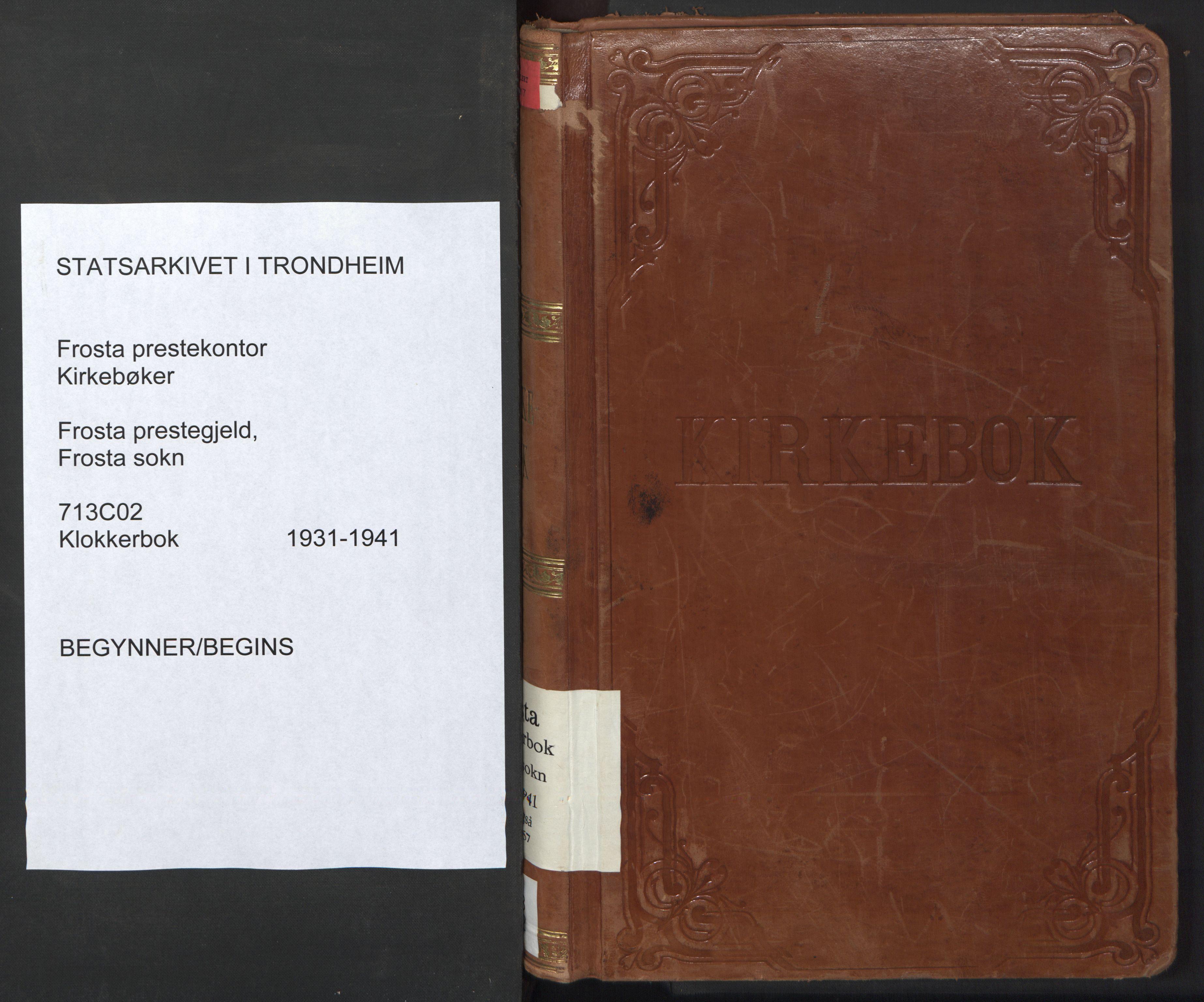 SAT, Ministerialprotokoller, klokkerbøker og fødselsregistre - Nord-Trøndelag, 713/L0125: Klokkerbok nr. 713C02, 1931-1941